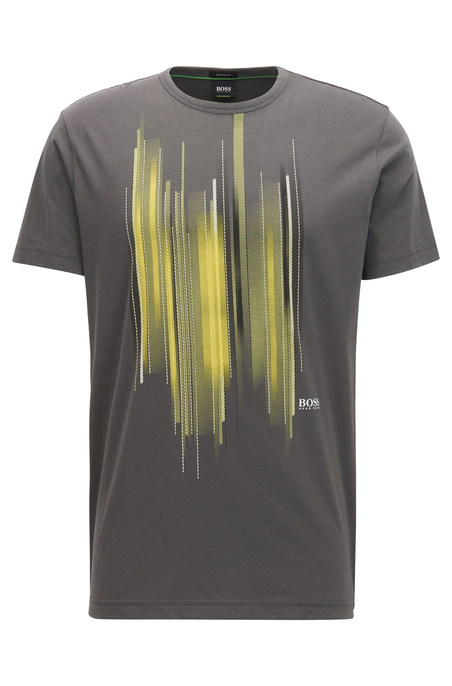 Cotton Graphic T-Shirt | Tee, Charcoal