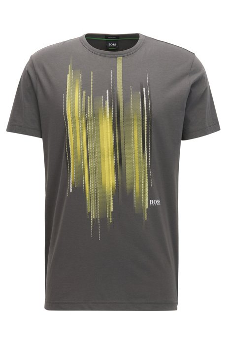 Boss cotton graphic t shirt tee for Shirts with graphics on the back