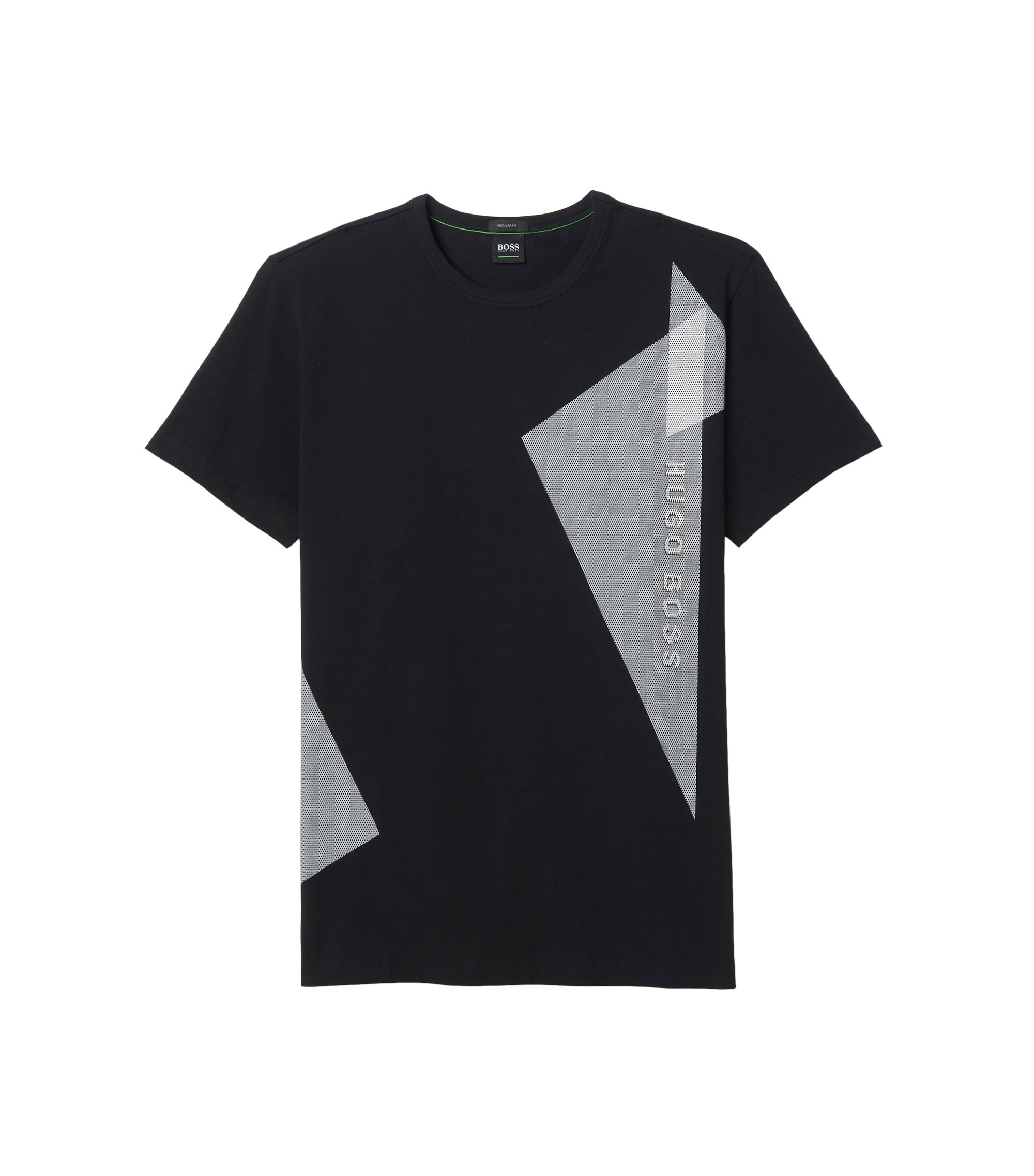 Stretch Cotton T-Shirt | Tee, Black