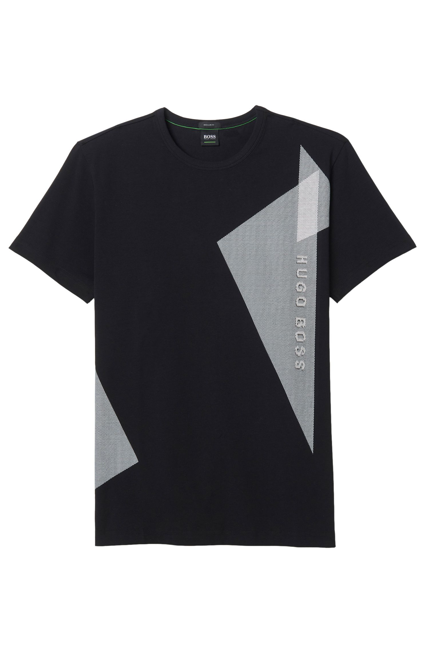 Stretch Cotton T-Shirt | Tee, Black