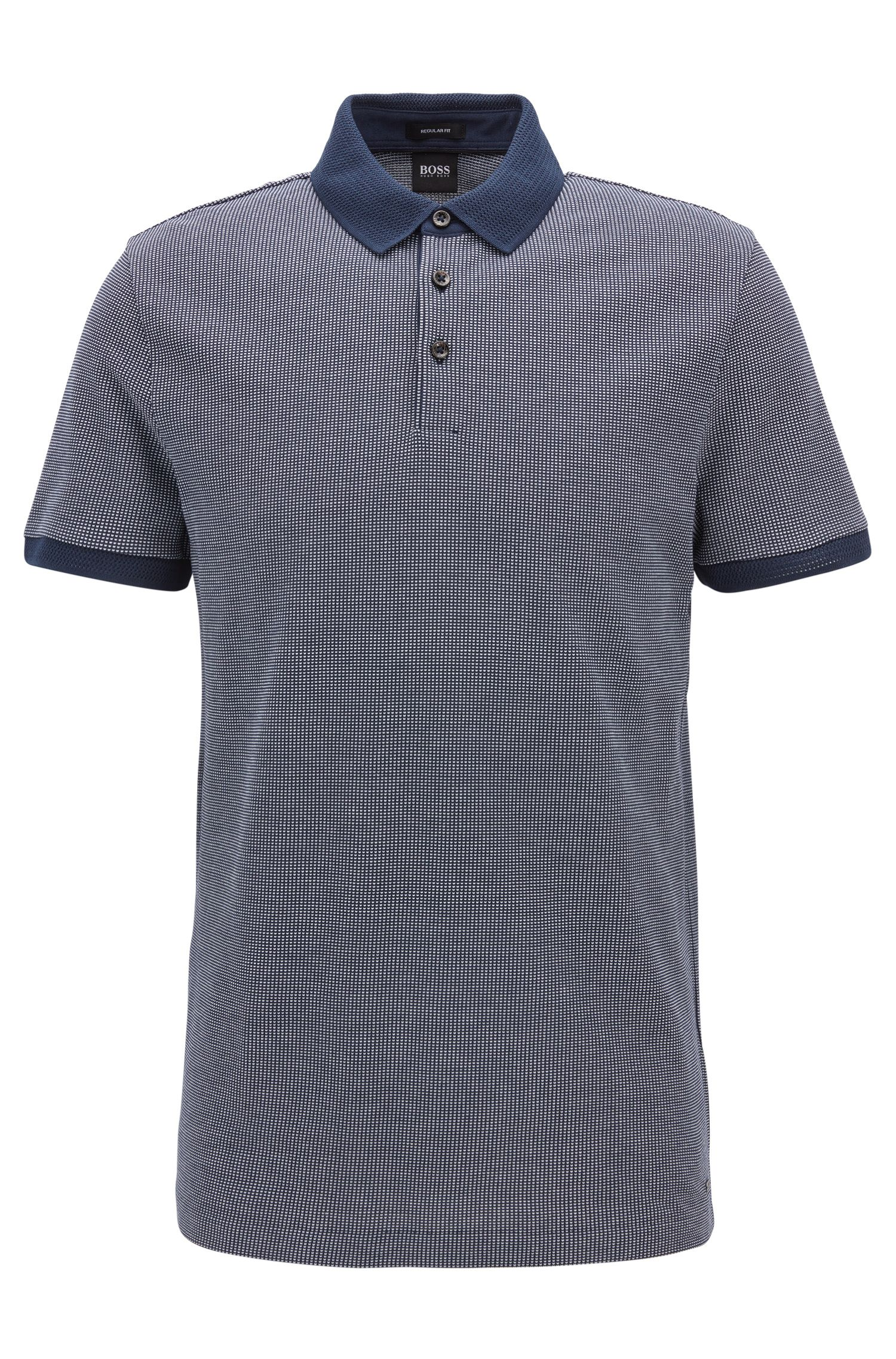Flat-Knit Cotton Polo Shirt, Regular Fit | Prout