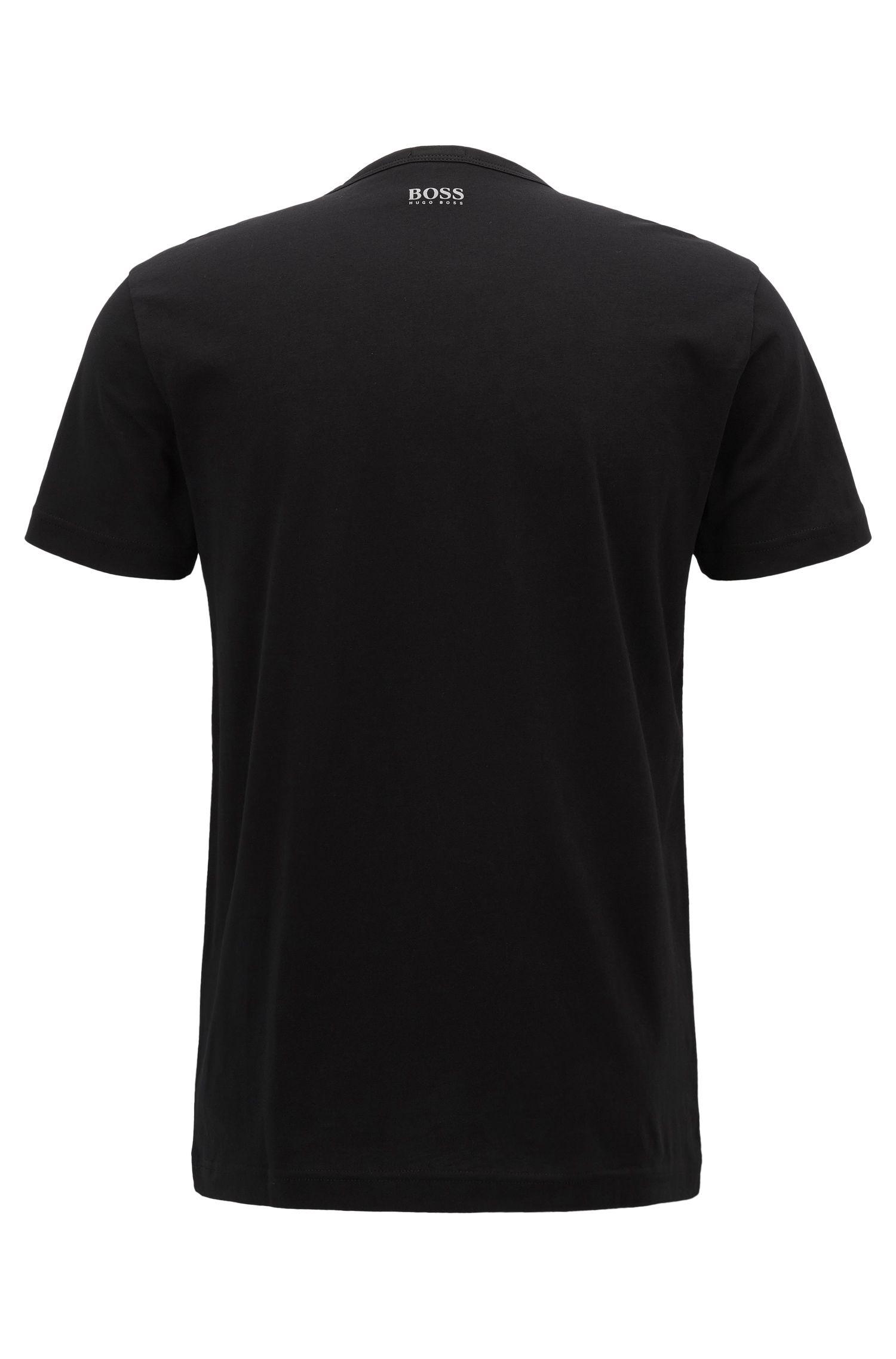 Logo Cotton Graphic T-Shirt | Tee, Black