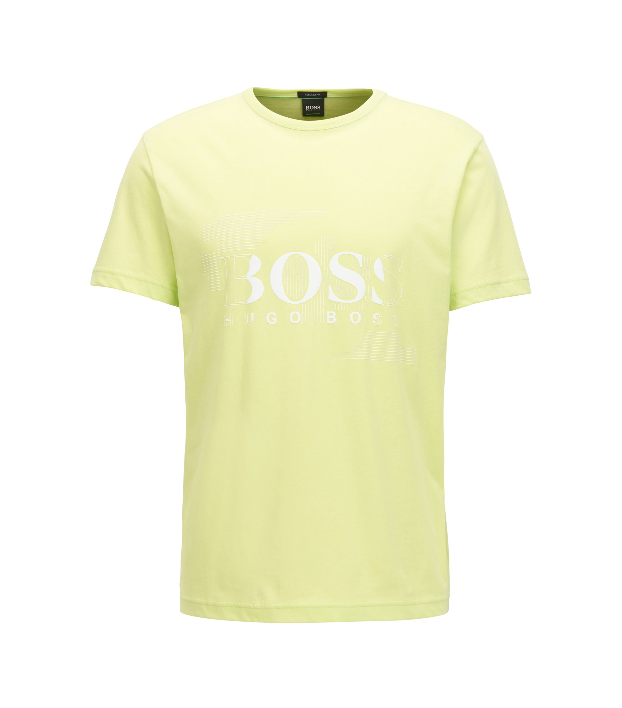 Logo Cotton Graphic T-Shirt | Tee, Light Green
