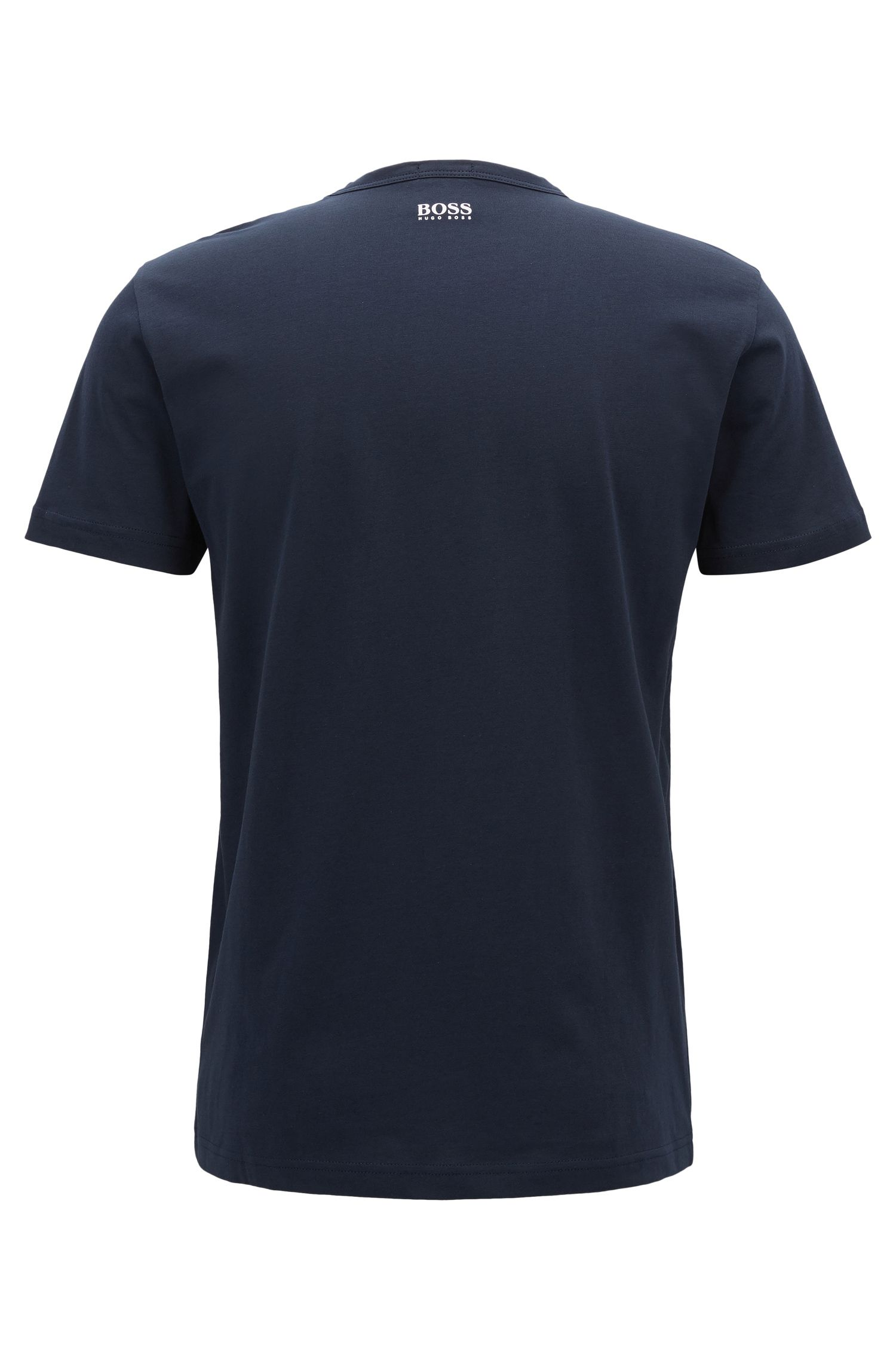 Logo Cotton Graphic T-Shirt | Tee, Dark Blue