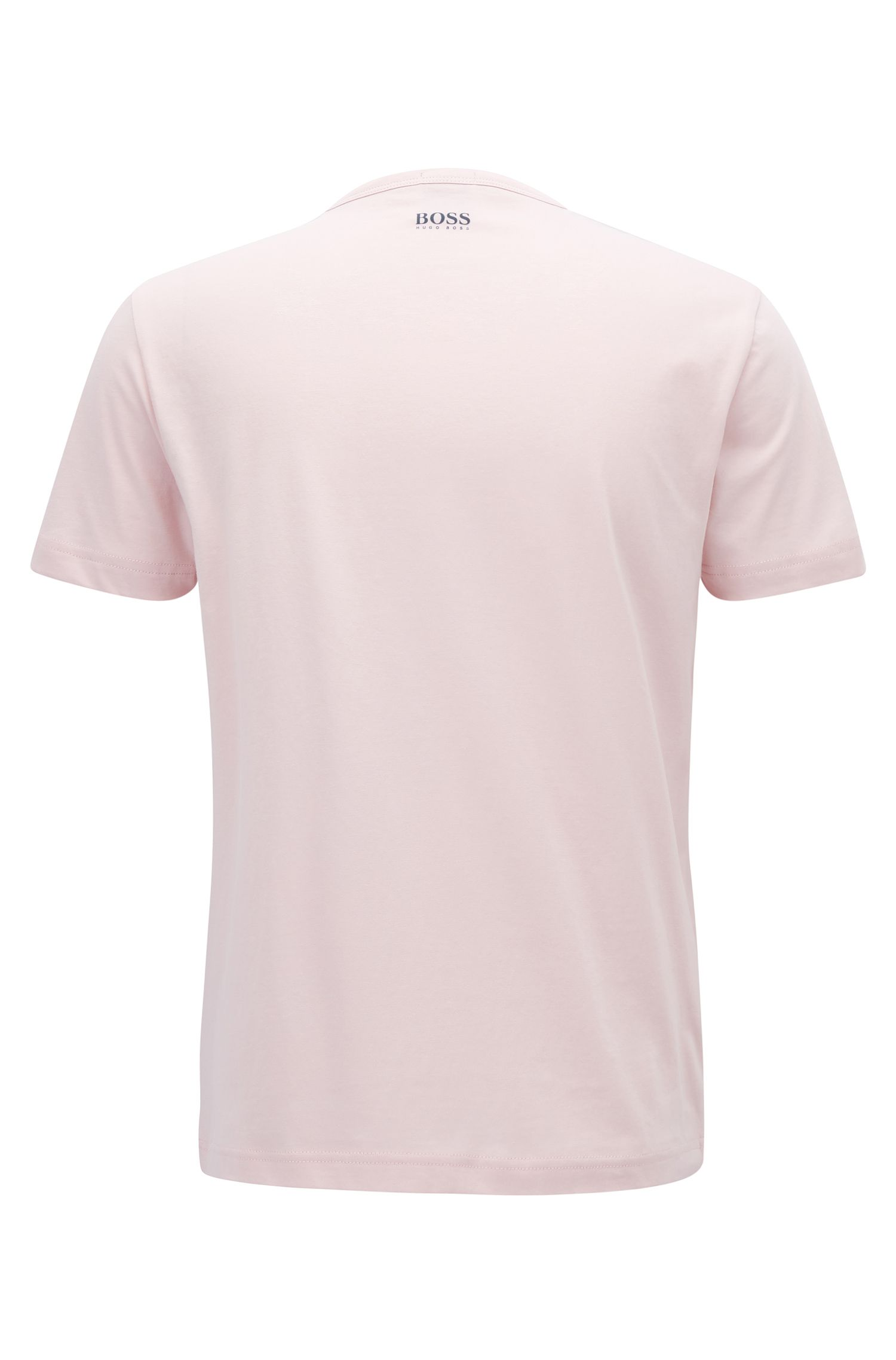 Logo Cotton Graphic T-Shirt | Tee, light pink
