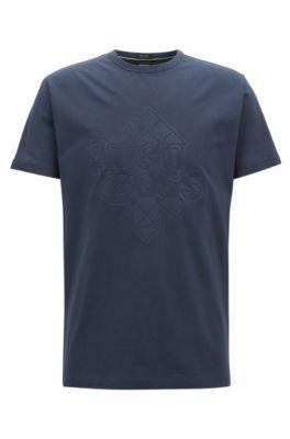 Stretch Cotton T-Shirt | Tee, Dark Blue