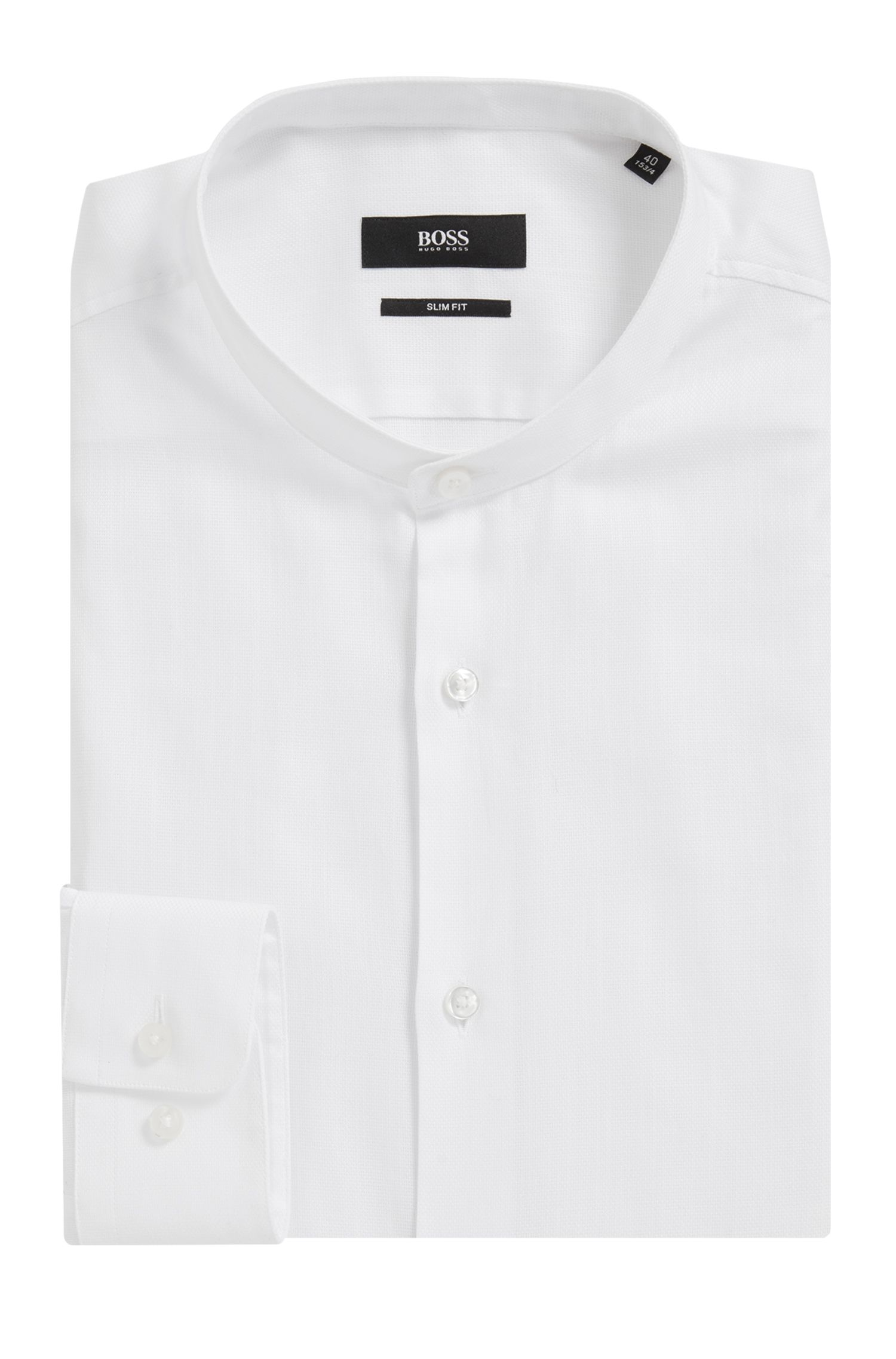 Cotton Dress Shirt, Slim Fit | Jordi, White