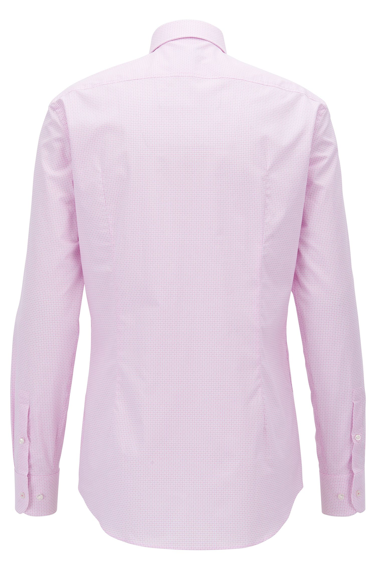 Check Cotton Dress Shirt, Slim Fit | Jesse, light pink