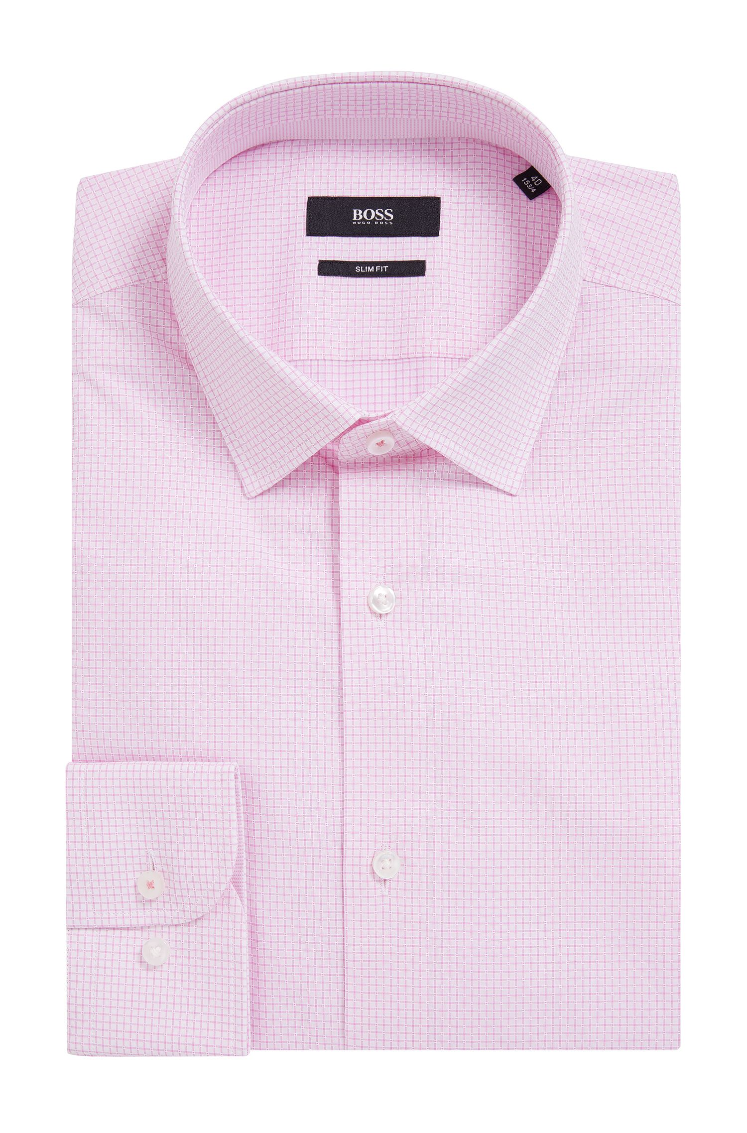 Check Cotton Dress Shirt, Slim Fit | Jesse