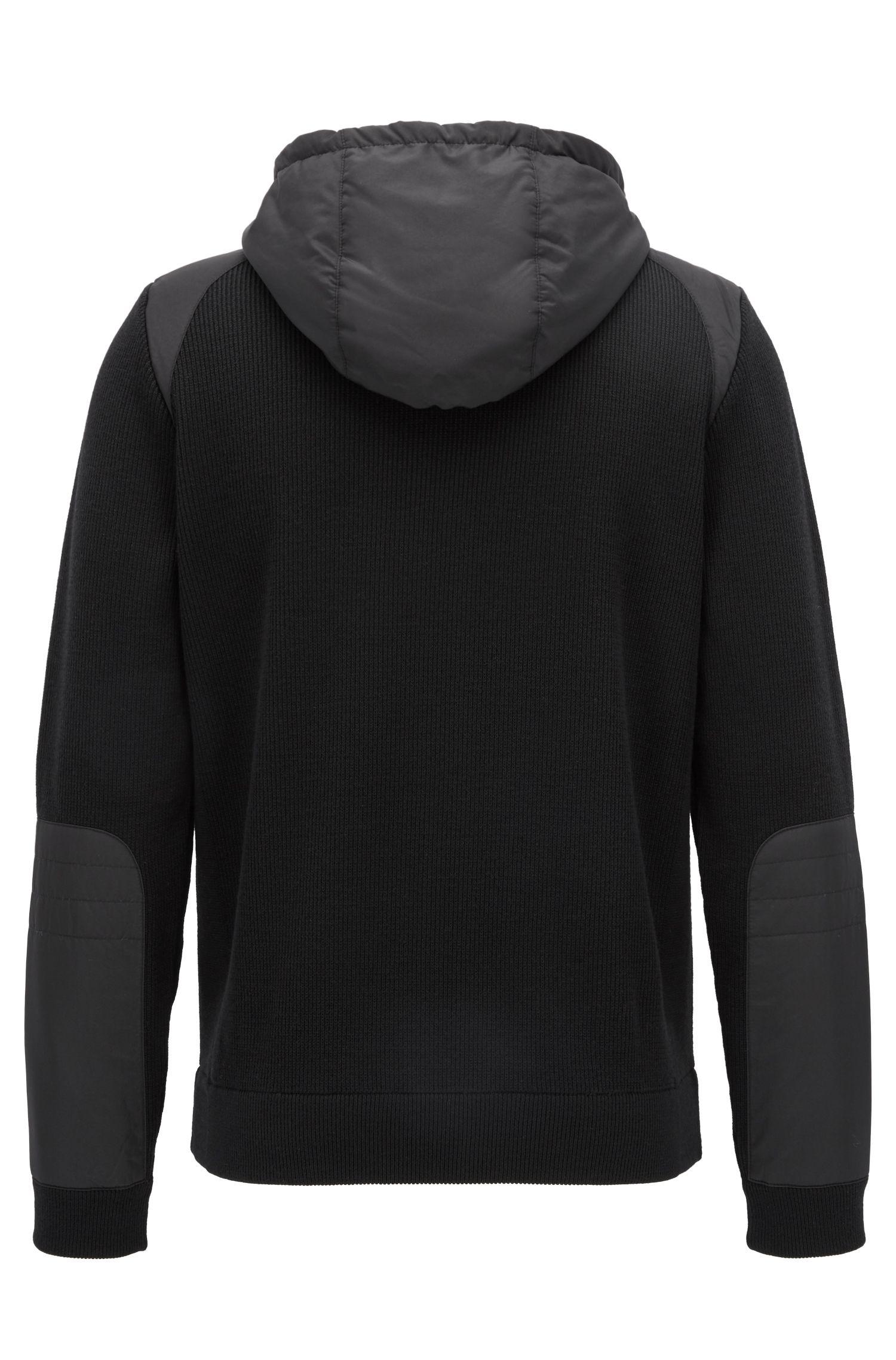 Italian Extra-Fine Merino Wool Full-Zip Jacket, Regular Fit   Daiton