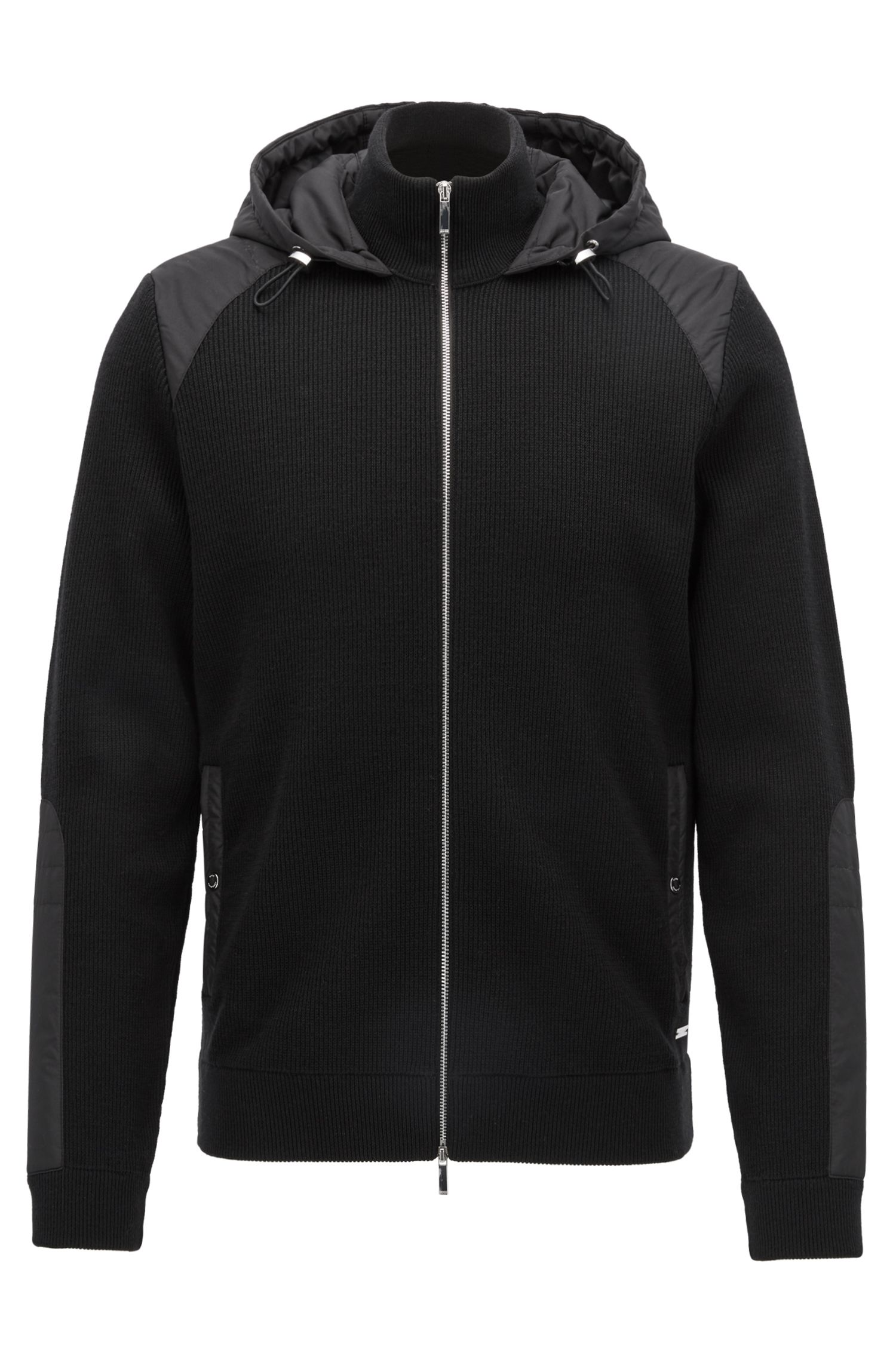 Italian Extra-Fine Merino Wool Full-Zip Jacket, Regular Fit | Daiton