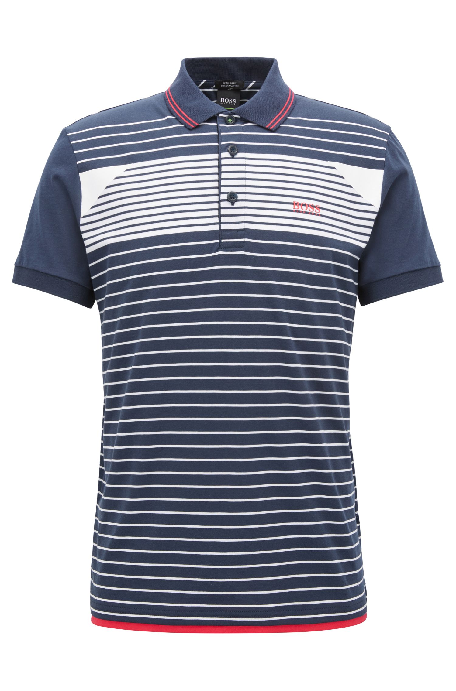 Striped Cotton Polo Shirt, Regular Fit | Paddy