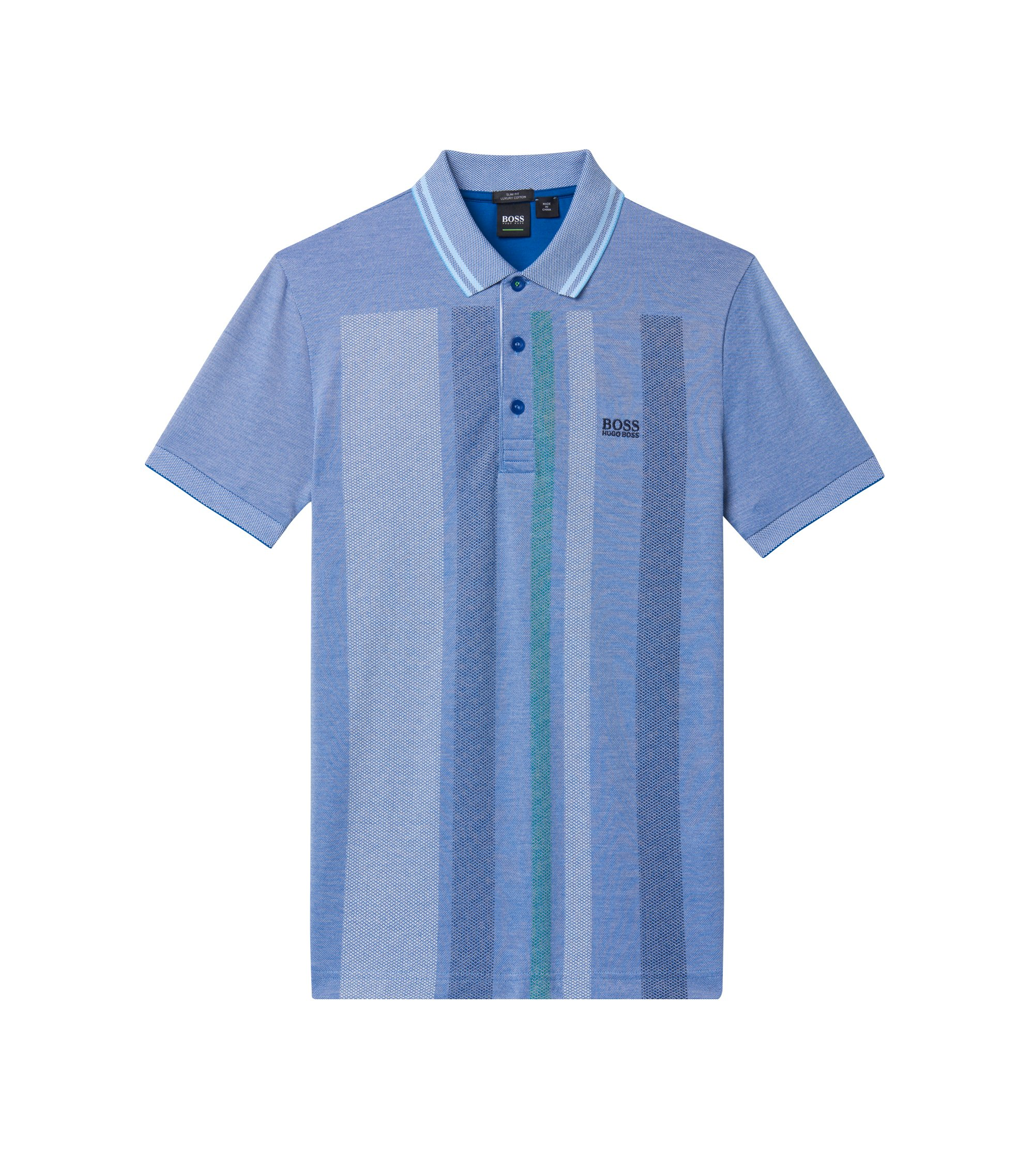 Colorblock Polo Shirt, Slim Fit | Paule, Natural