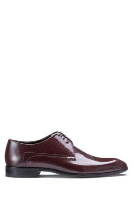 Derby shoes in burnished leather BOSS QgQ6tgh2