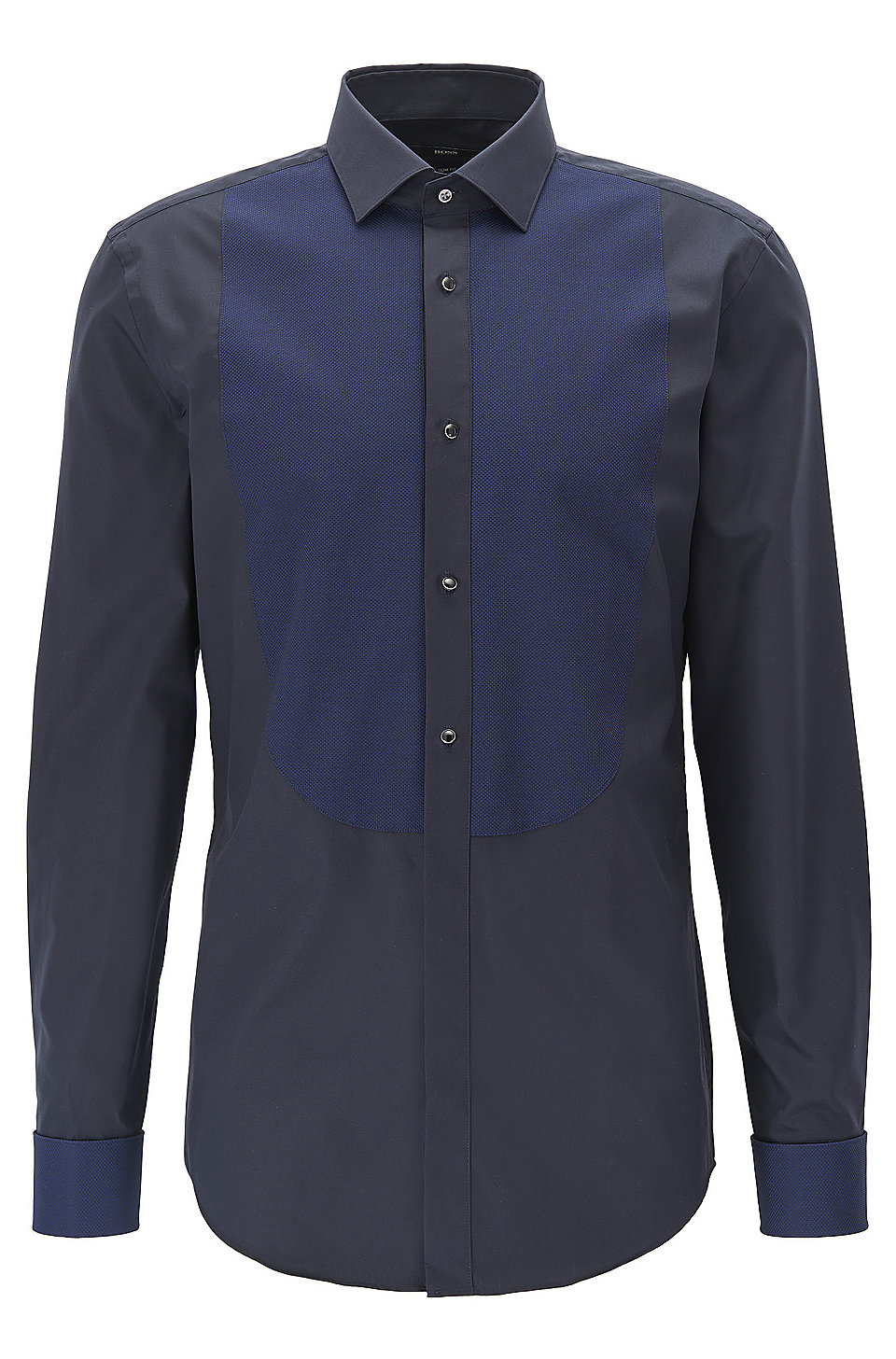 Boss two tone tuxedo shirt slim fit jant for Best slim fit tuxedo shirt