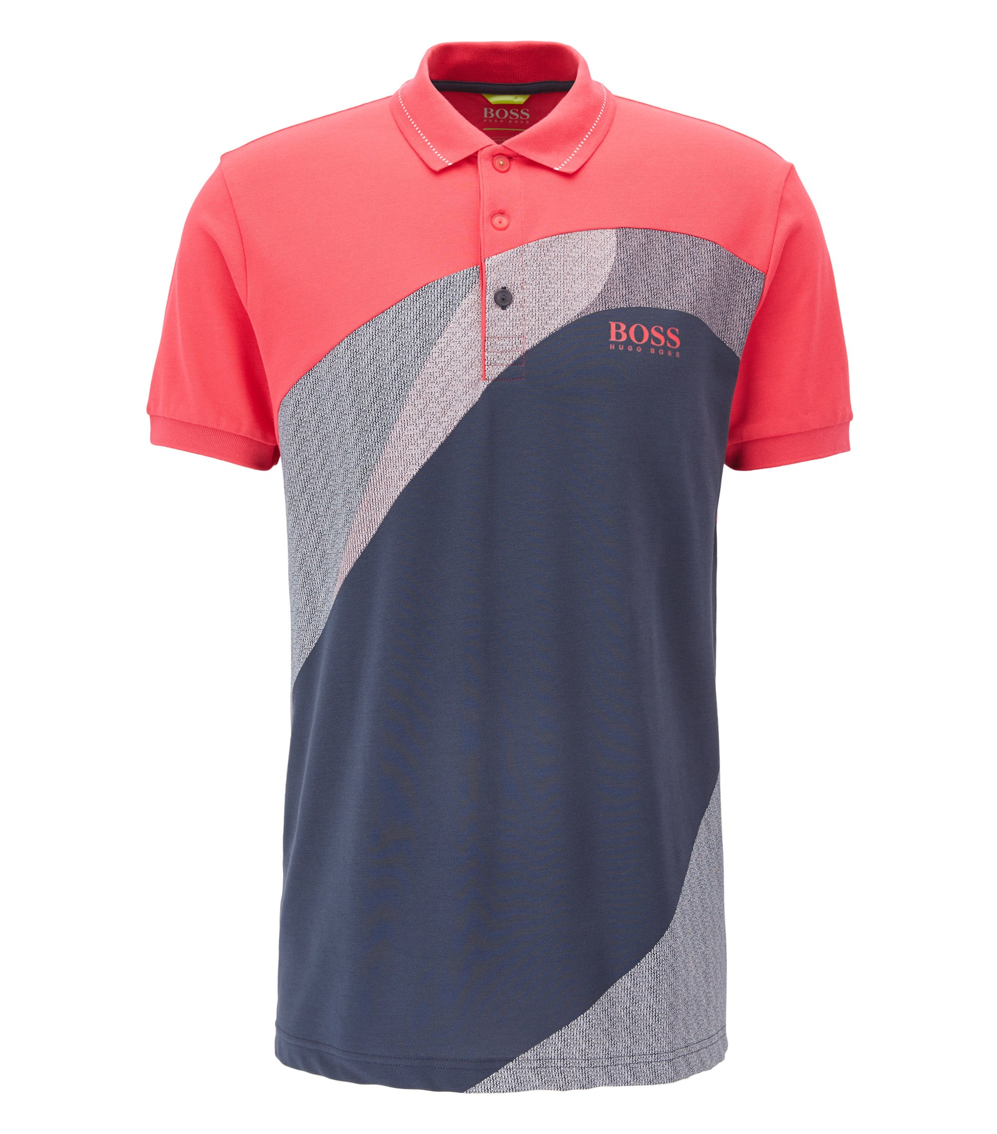 Cotton Blend Polo Shirt, Regular Fit | Paddy Pro, Pink