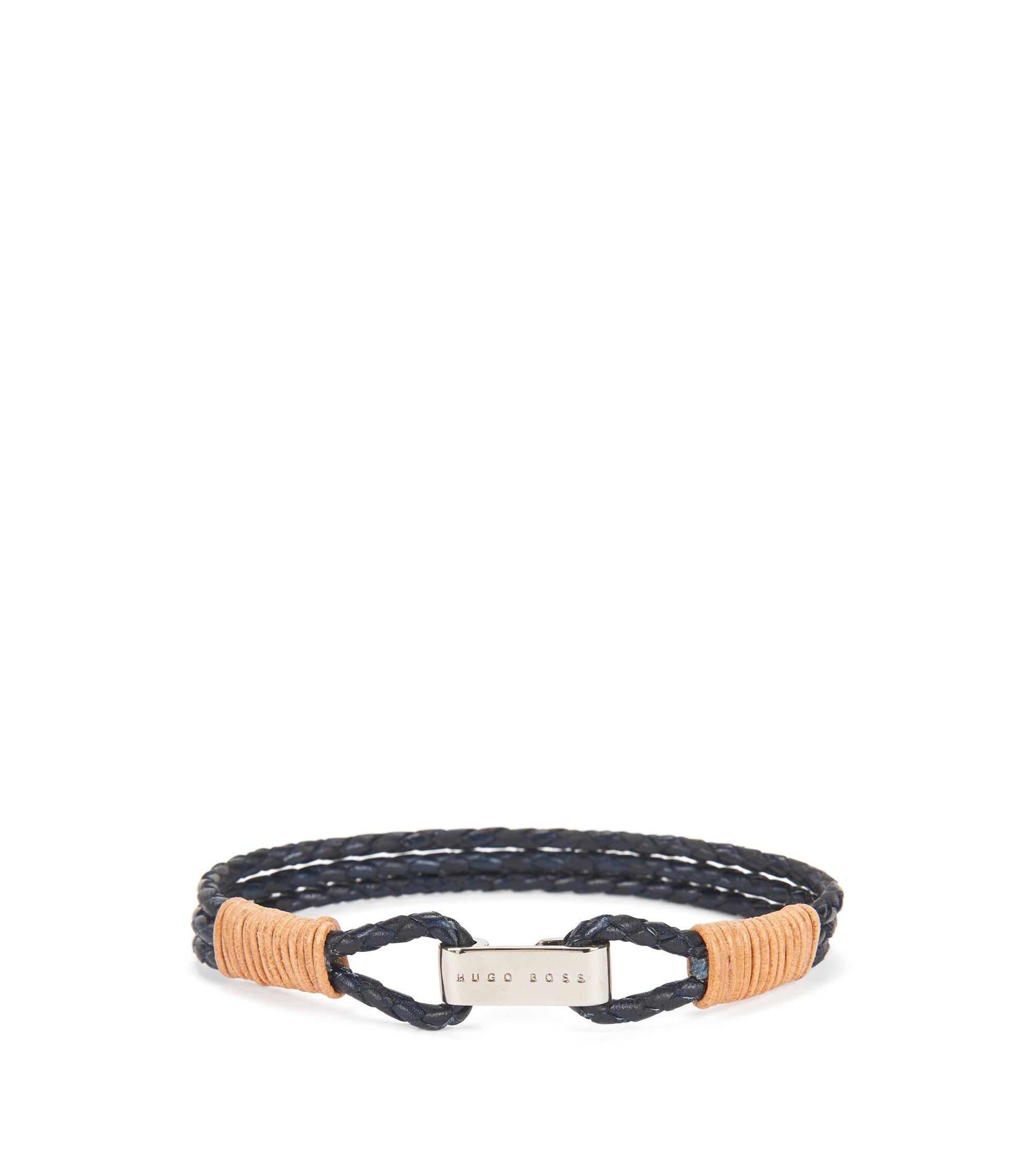 Leather Bracelet   Barti, Dark Blue