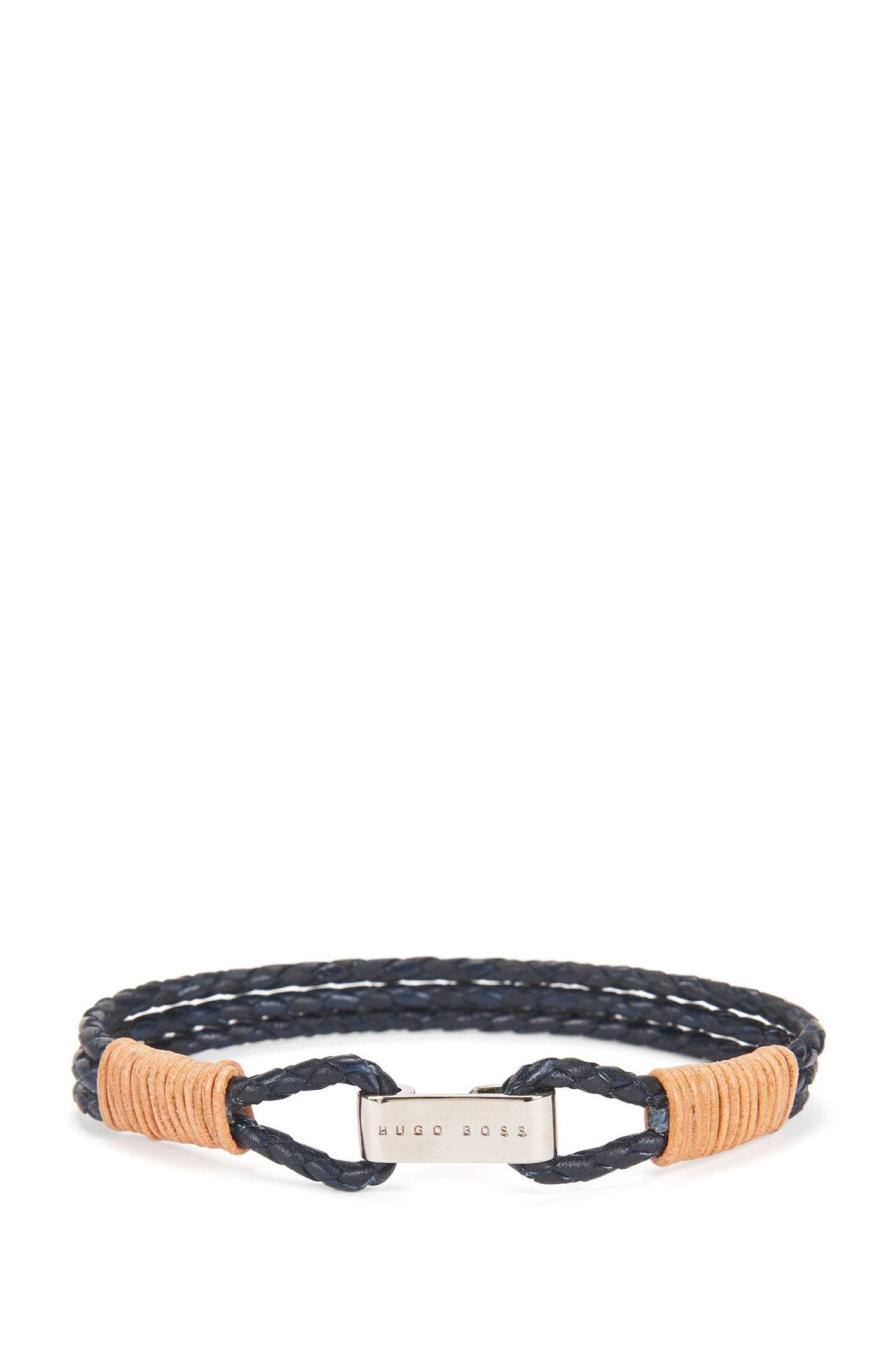 Leather Bracelet | Barti, Dark Blue
