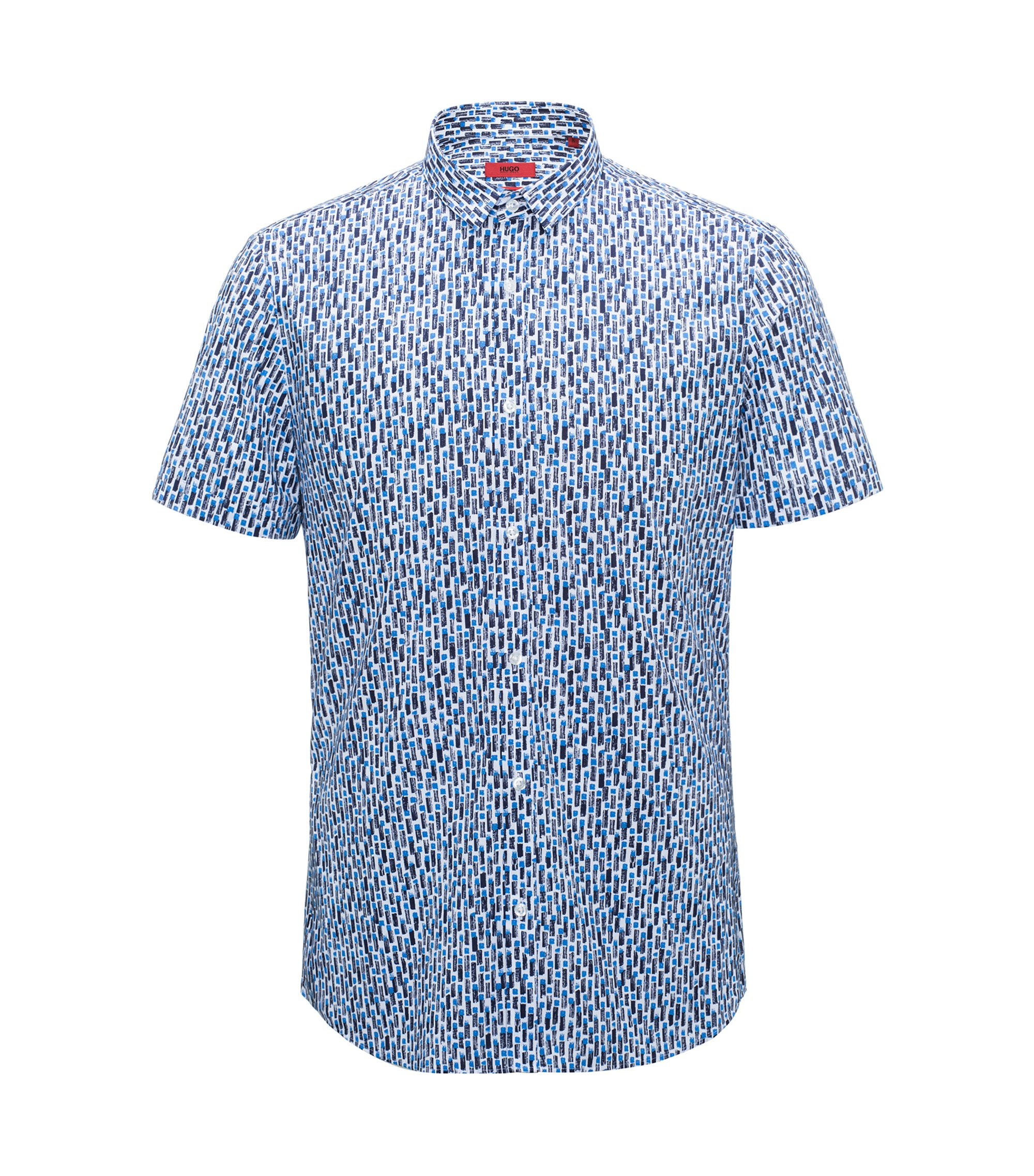 Patterned Sport Shirt, Extra Slim Fit | Empson, Open Blue