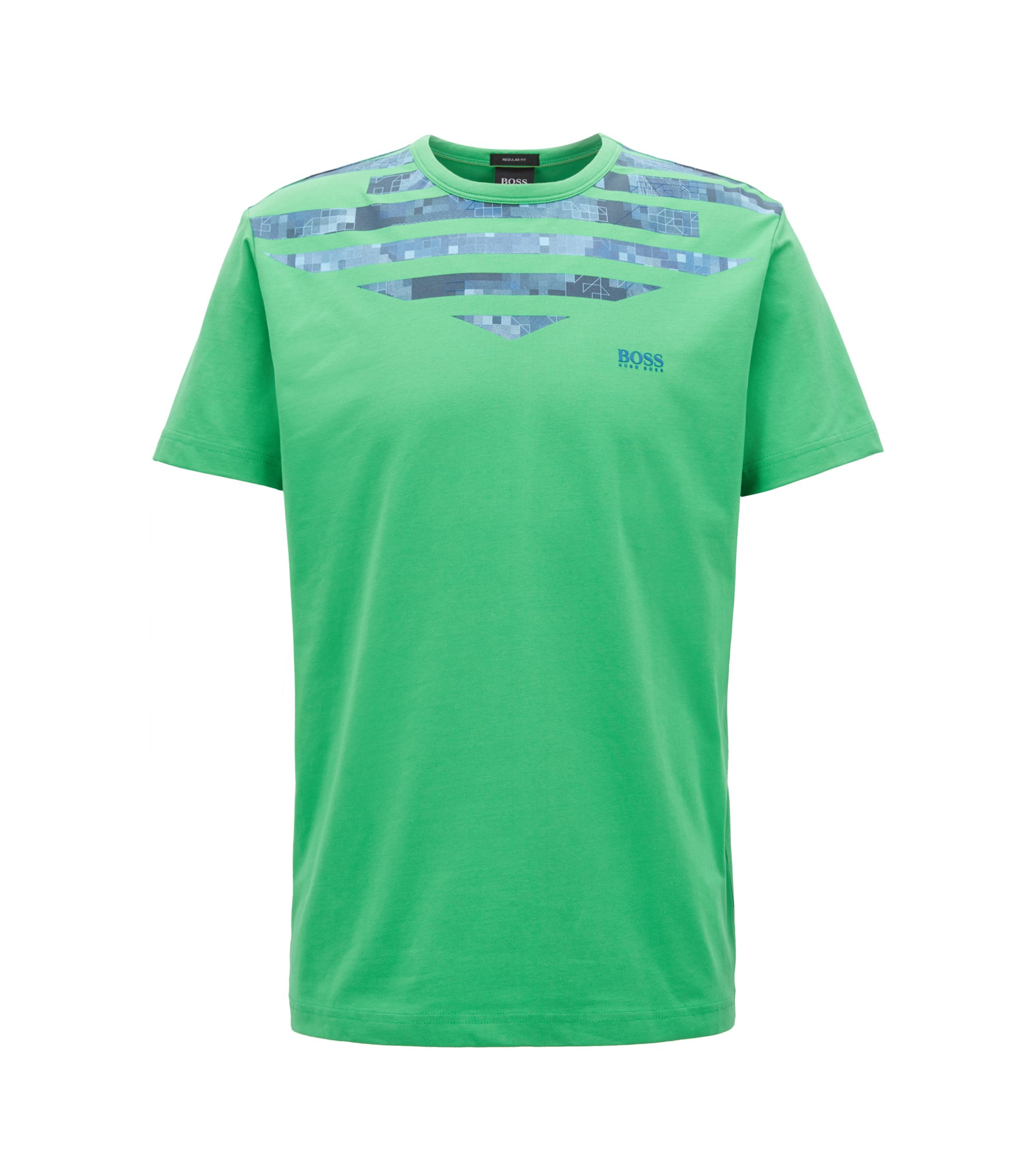 Stretch Cotton Graphic T-Shirt | Tee 10, Green