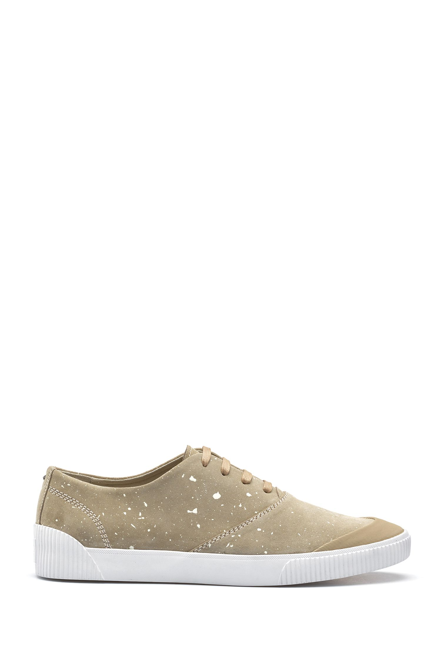 Paint Splattered Suede Tennis Shoe | Zero Tenn