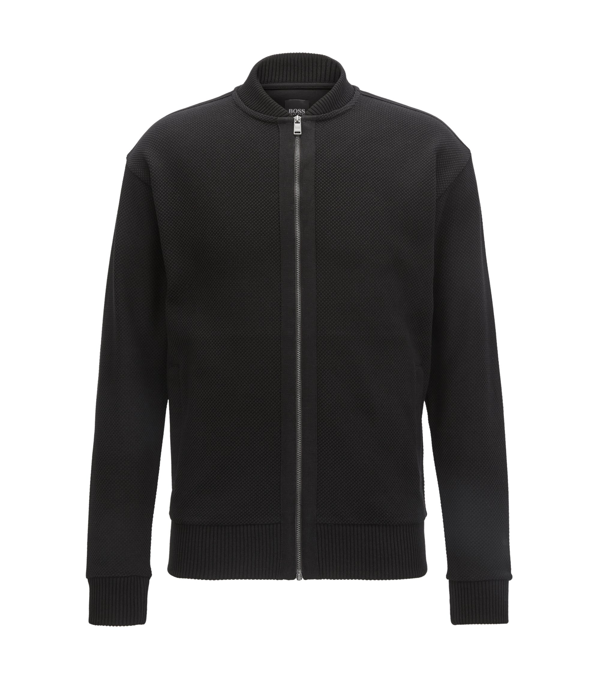 Cotton Full-Zip Jacket | Skiles, Black