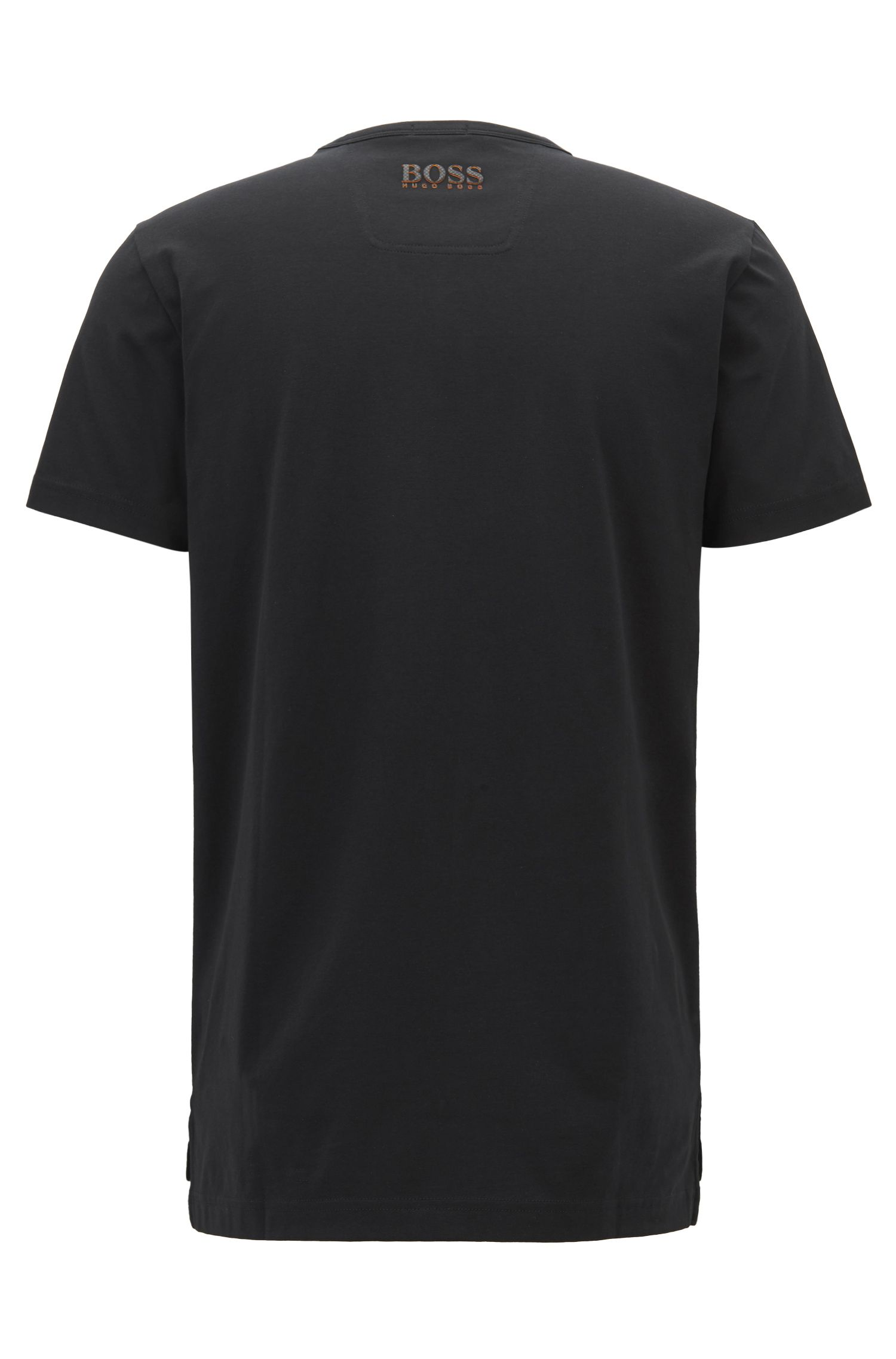 Country Print Stretch Cotton T-Shirt | Tee Flag