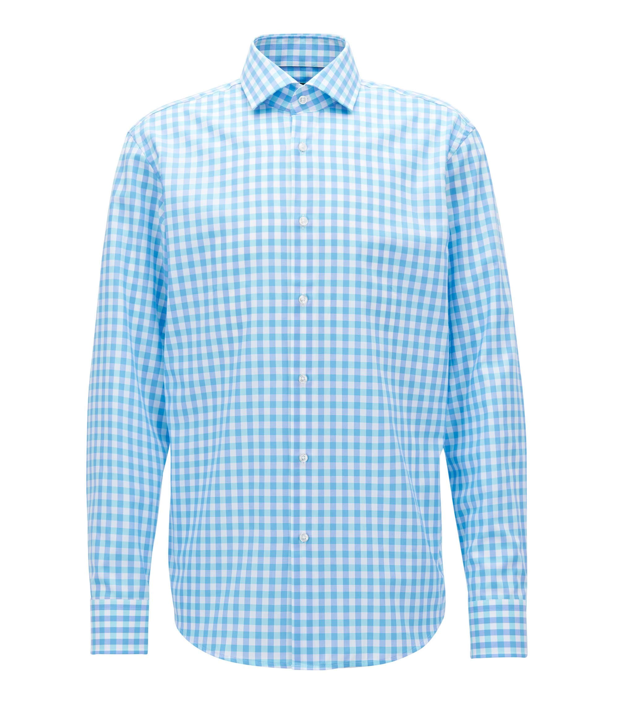 Windowpane Cotton Dress Shirt, Regular FIt | Gordon, Turquoise