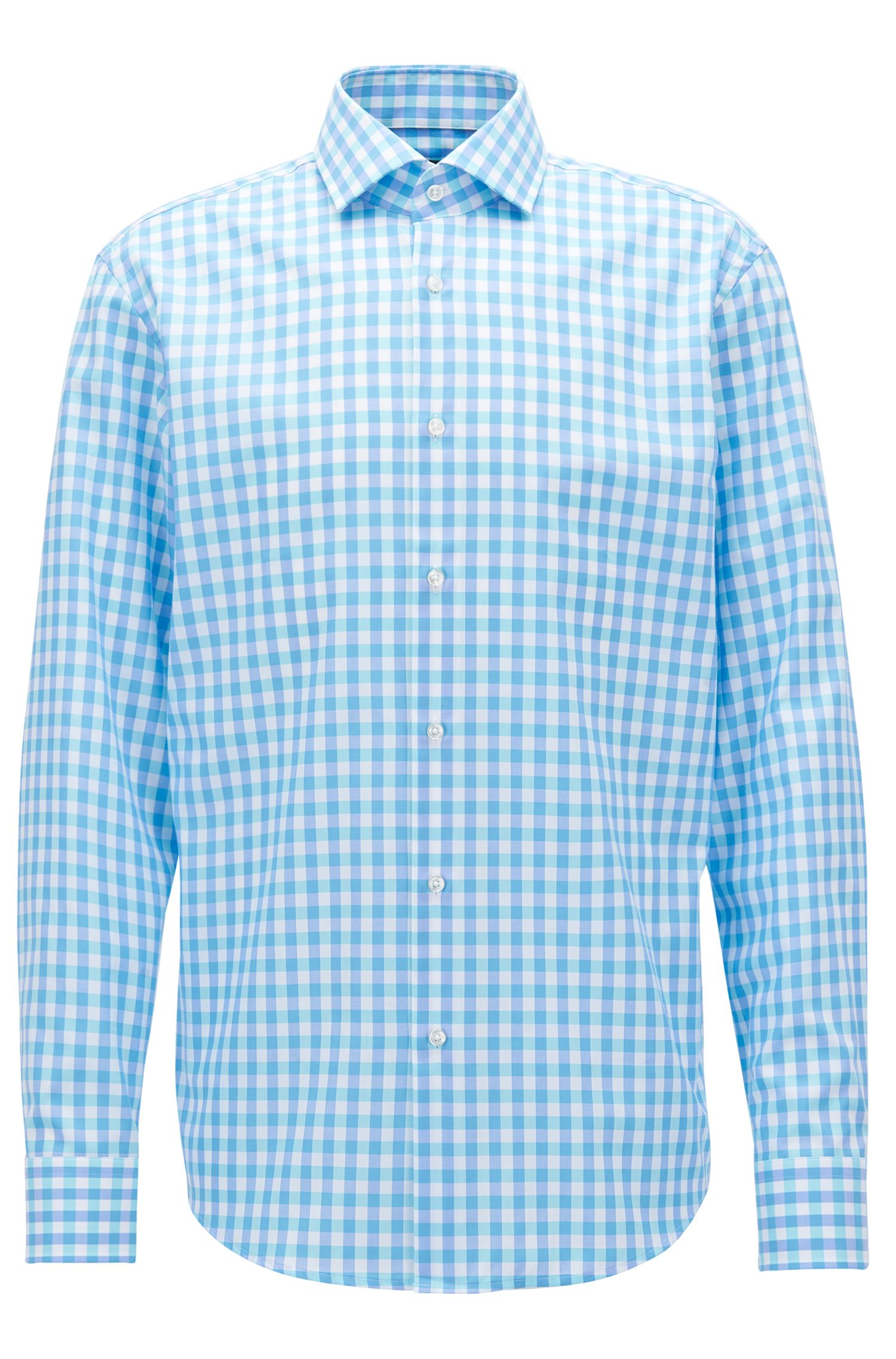 Windowpane Cotton Dress Shirt, Regular FIt | Gordon