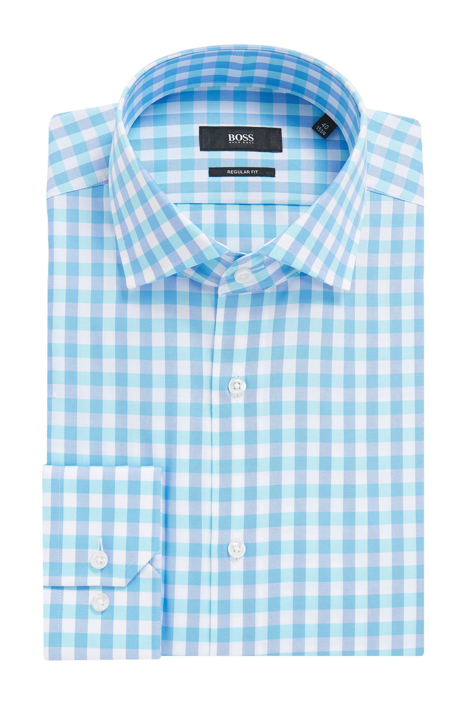 Windowpane Cotton Dress Shirt, Regular FIt | Gordon