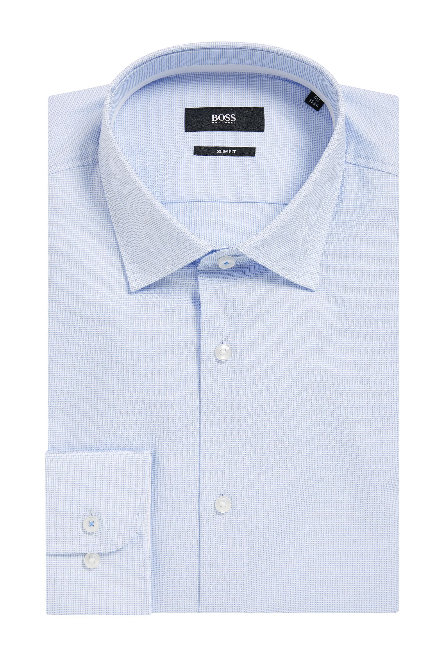 Pindot Oxford Dress Shirt, Slim Fit | Jesse, Light Blue