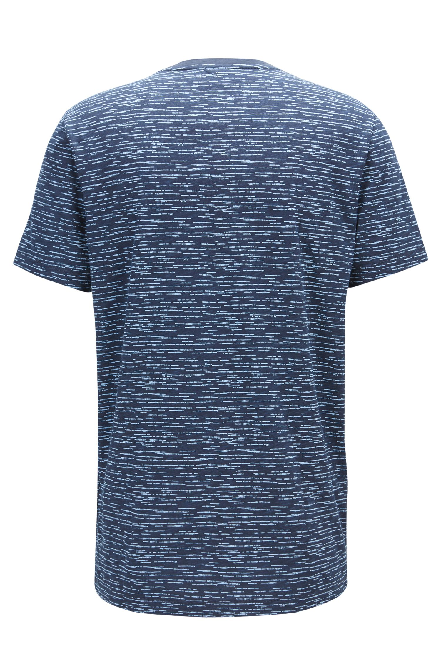 Heathered Cotton T-Shirt | Tiburt, Dark Blue