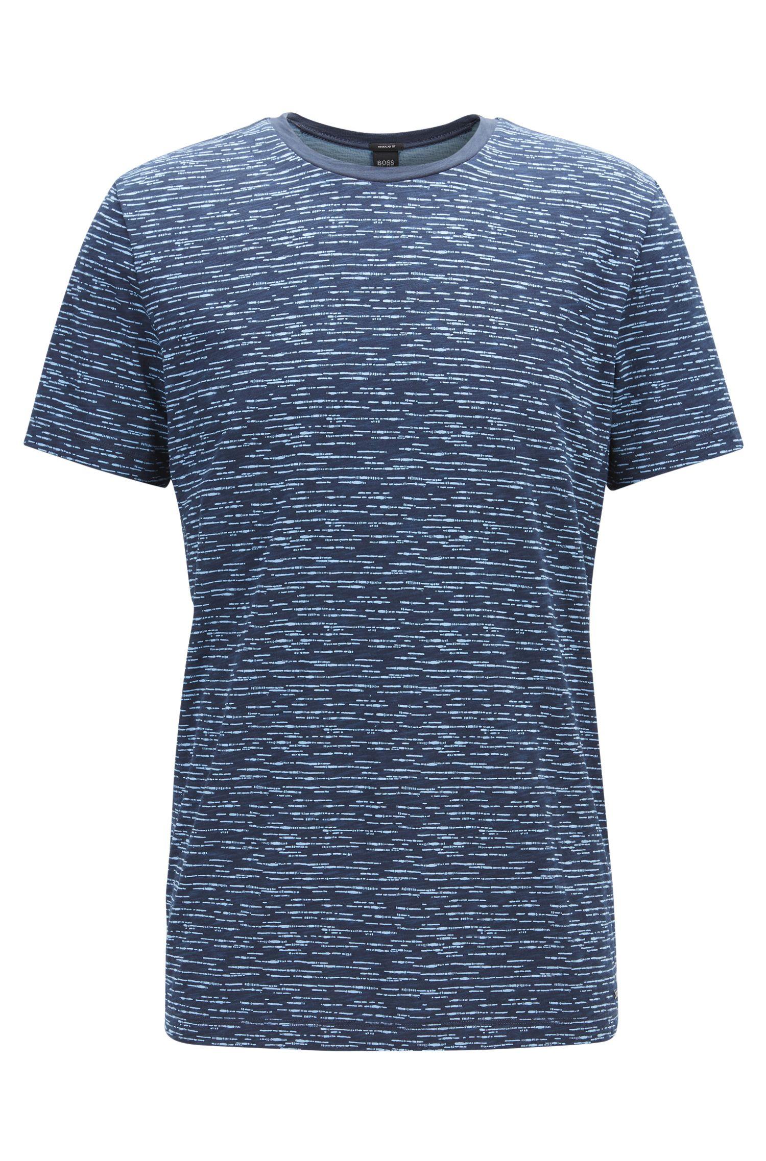Heathered Cotton T-Shirt | Tiburt