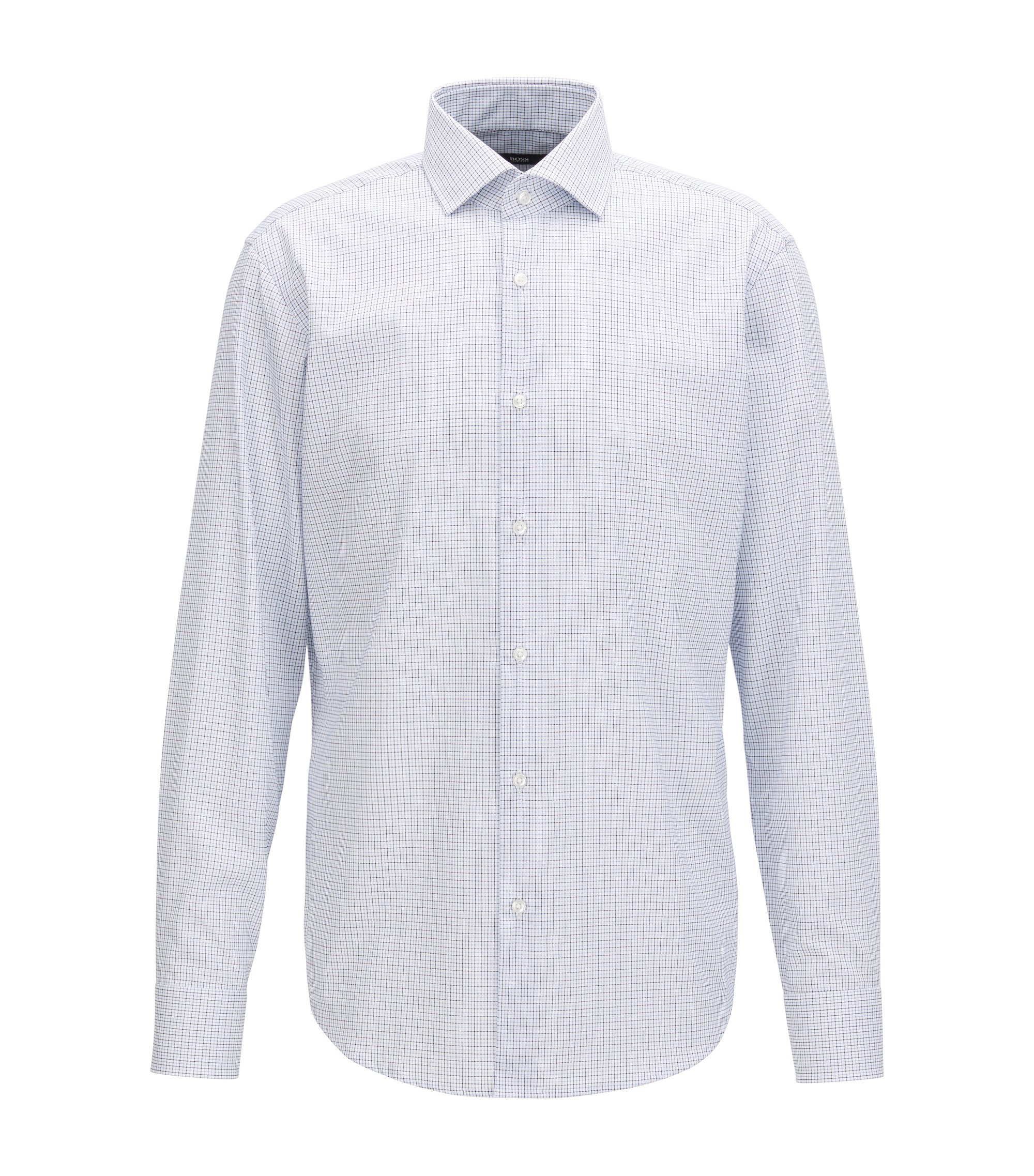 Plaid Easy Iron Cotton Dress Shirt, Regular Fit | Gordon, Blue