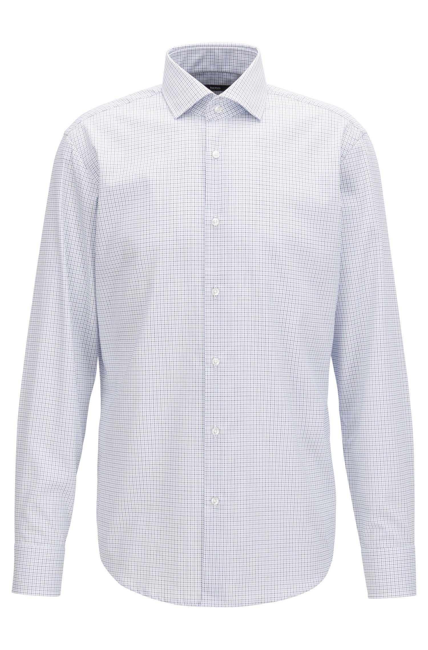 Regular-fit shirt in easy-iron cotton BOSS