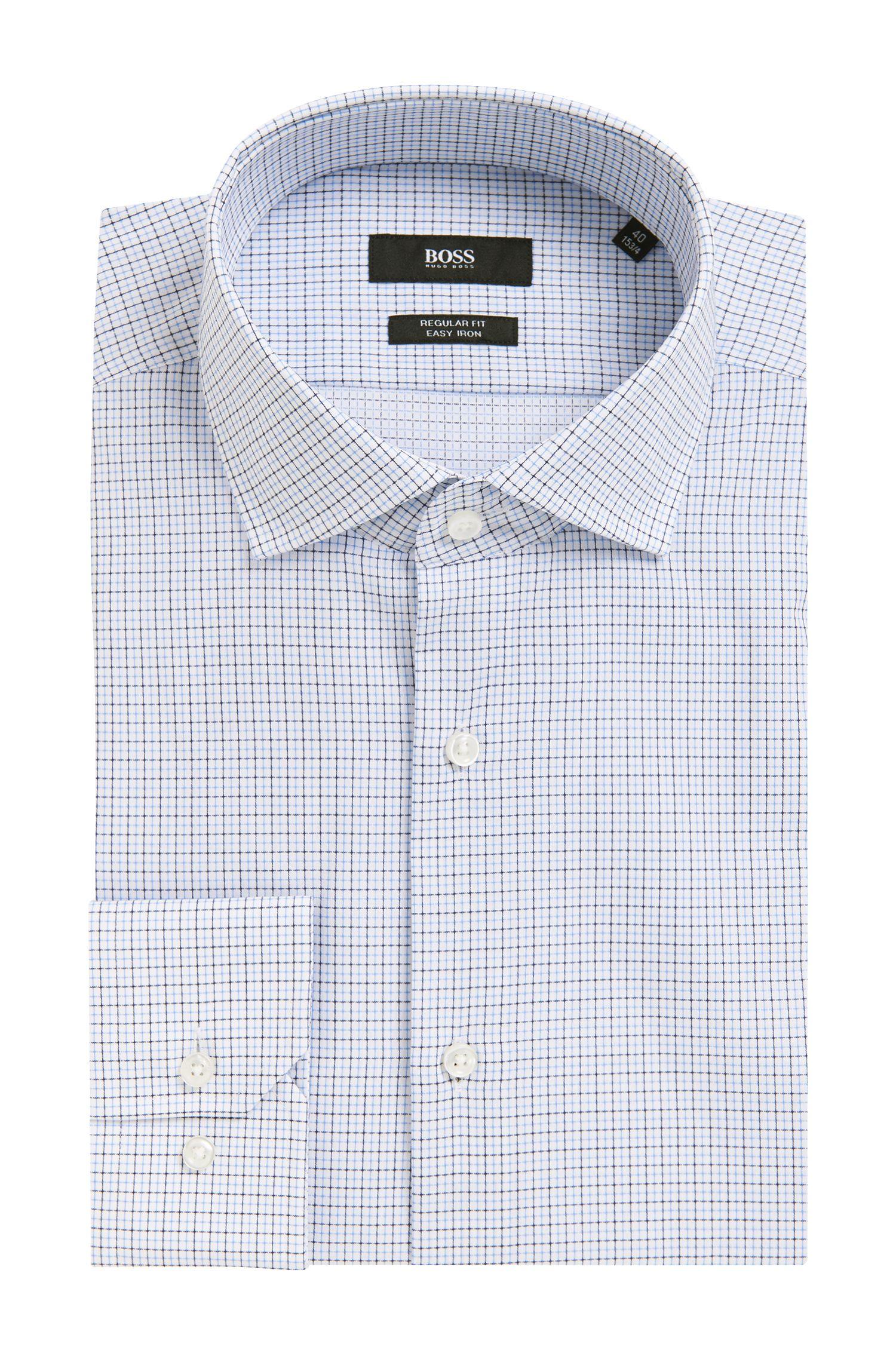 Plaid Easy Iron Cotton Dress Shirt, Regular Fit | Gordon