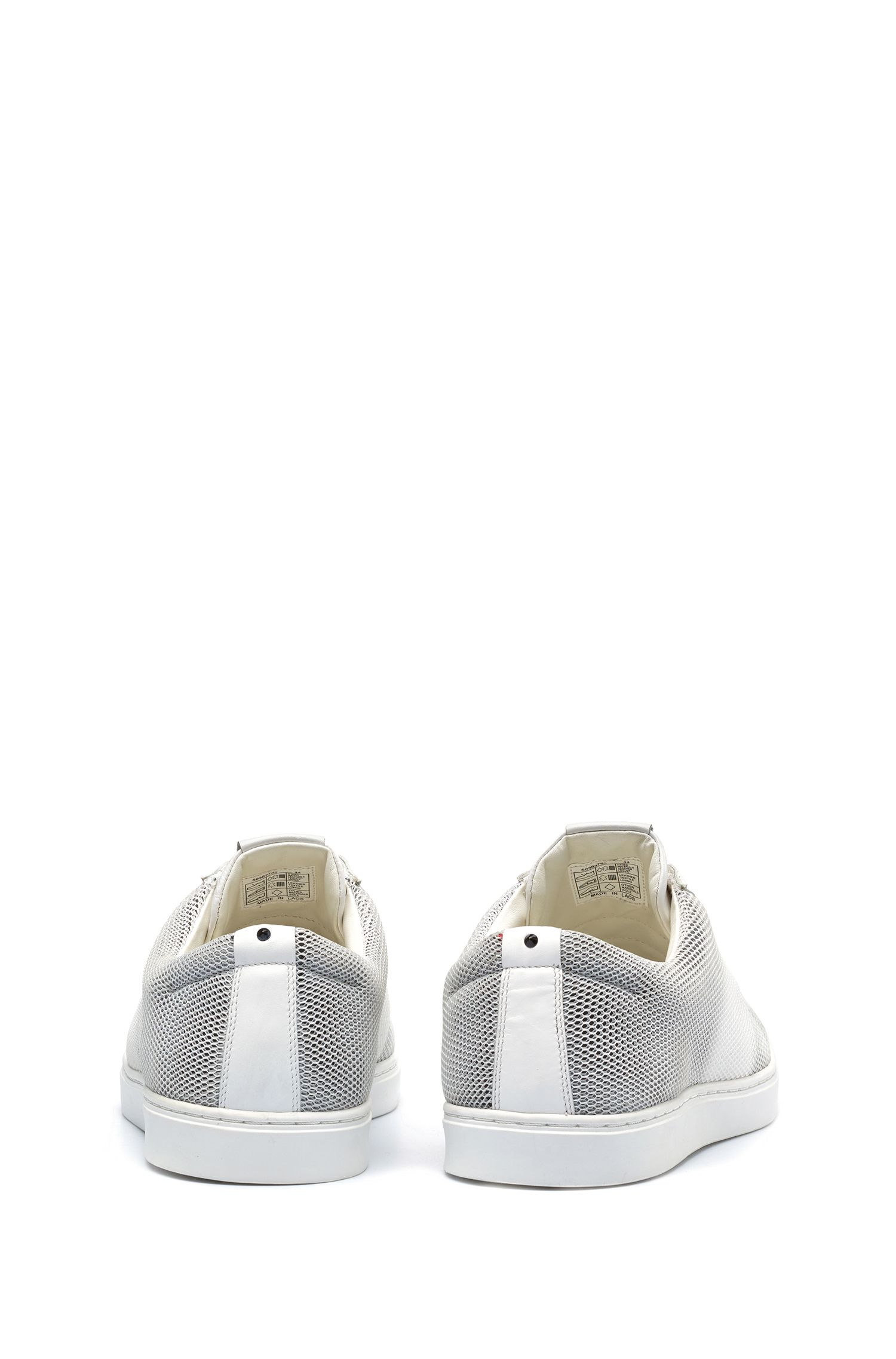 Leather & Mesh Sneaker | Post Slon, White