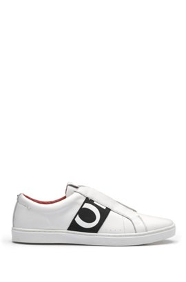 HUGO BOSS Hugo Boss Low-top sneakers in nappa leather logo detail 11 White View Online qAhlMb3