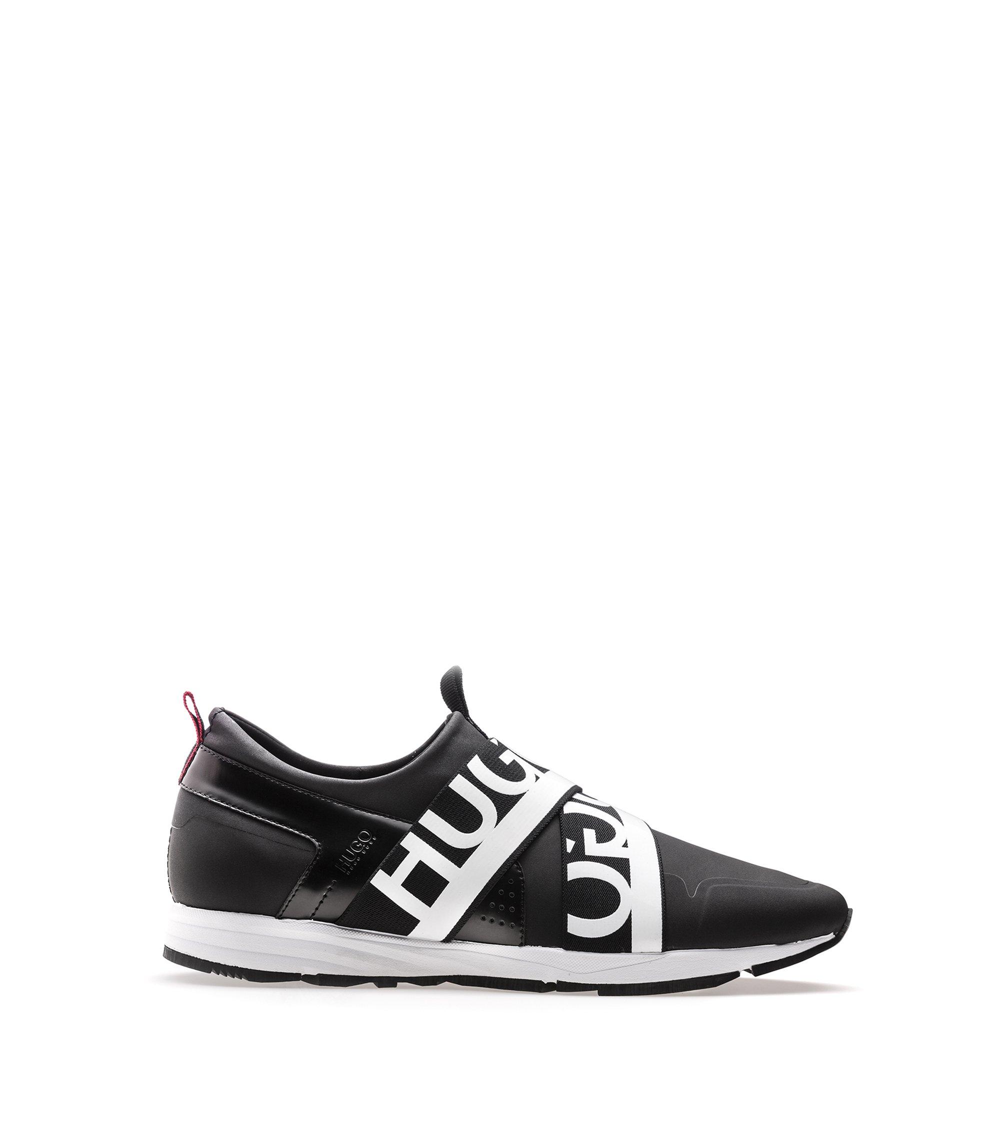 Leather Sneaker | Hybrid Runn, Black