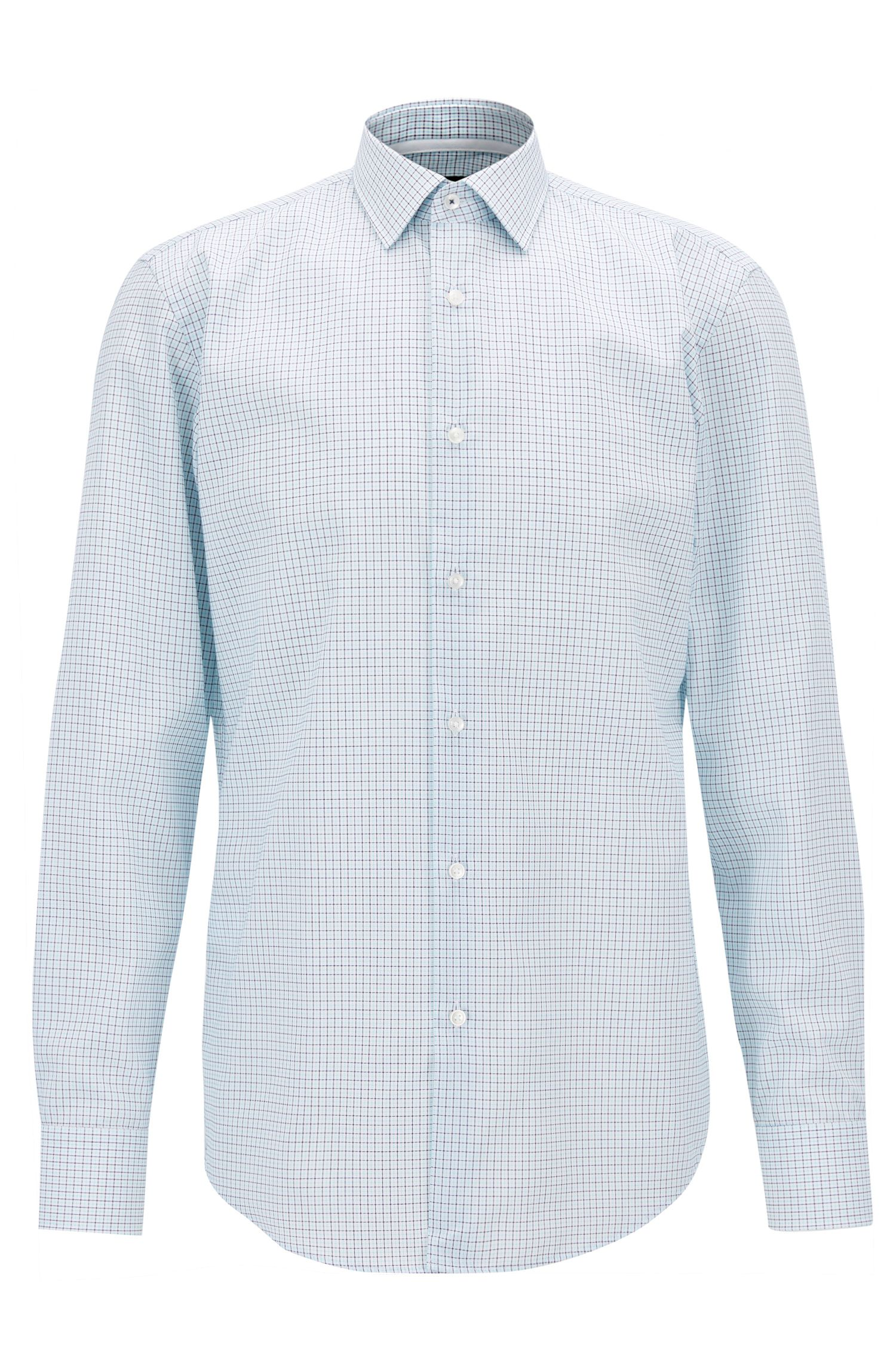 Plaid Cotton Dress Shirt, Slim Fit | Jesse