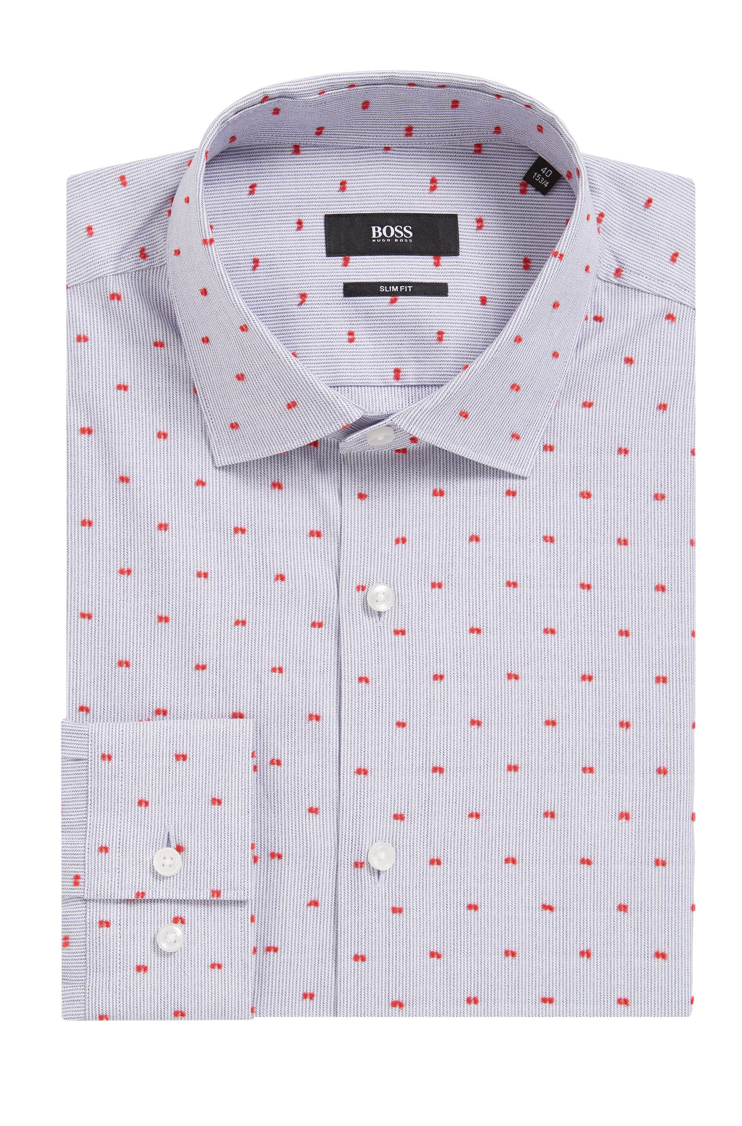 Cotton Dress Shirt, Slim Fit | Ismo