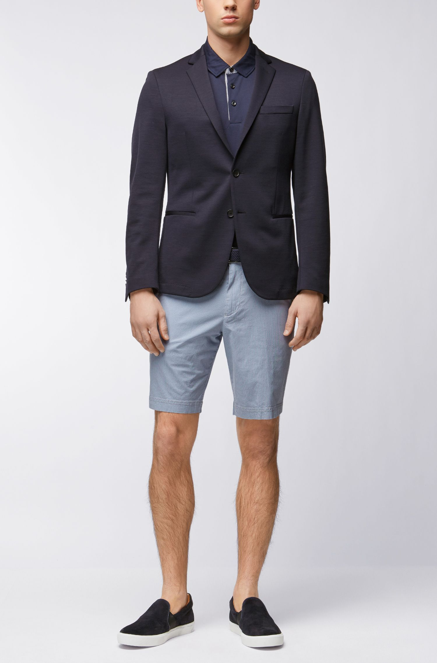 Mercerized Cotton Polo Shirt, Regular Fit | Press, Dark Blue