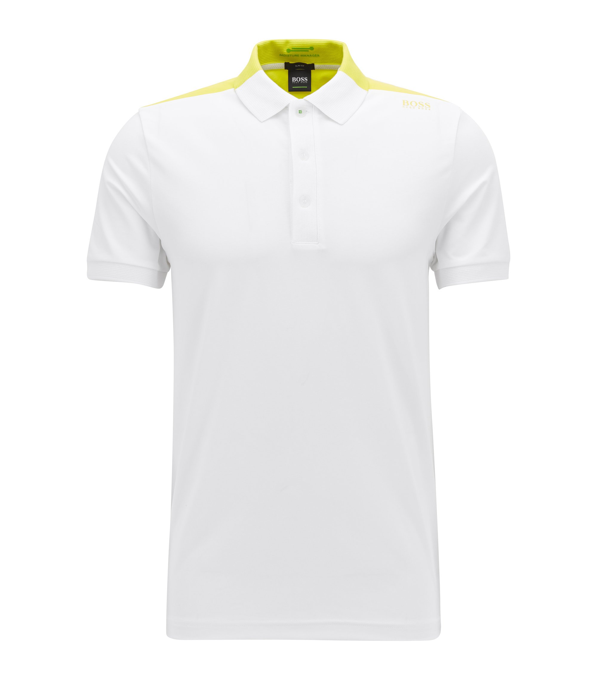 Moisture Manager Cotton Blend Polo Shirt, Slim Fit | Paule , White