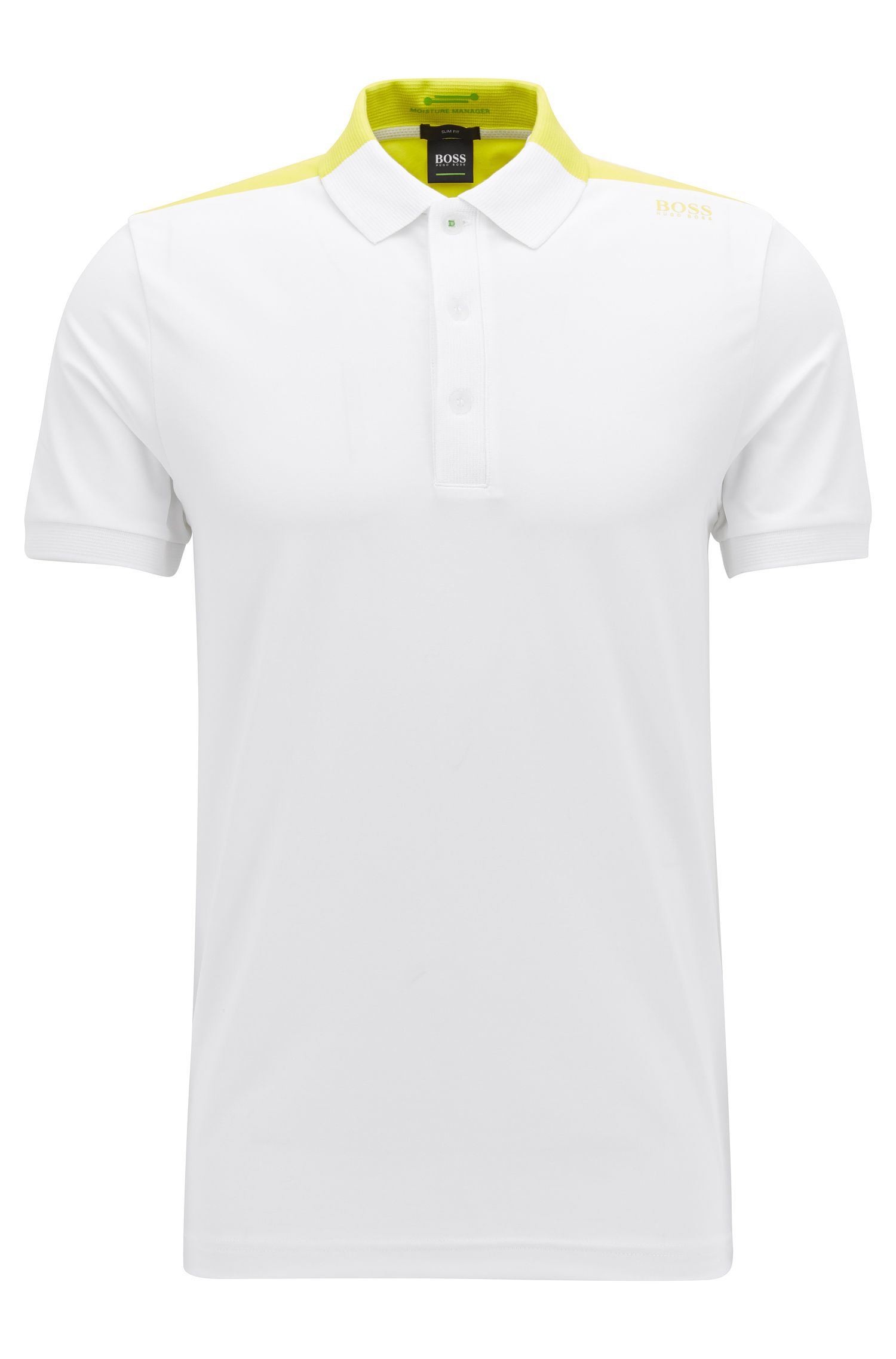 Moisture Manager Cotton Blend Polo Shirt, Slim Fit | Paule , White