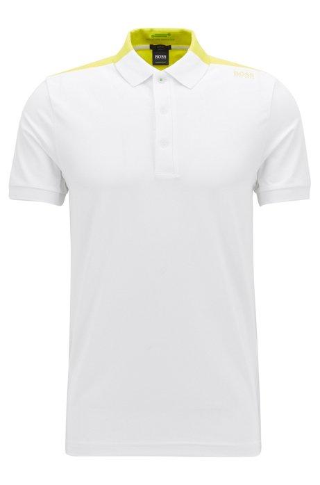 56fc5291b BOSS - Moisture Manager Cotton Blend Polo Shirt, Slim Fit | Paule