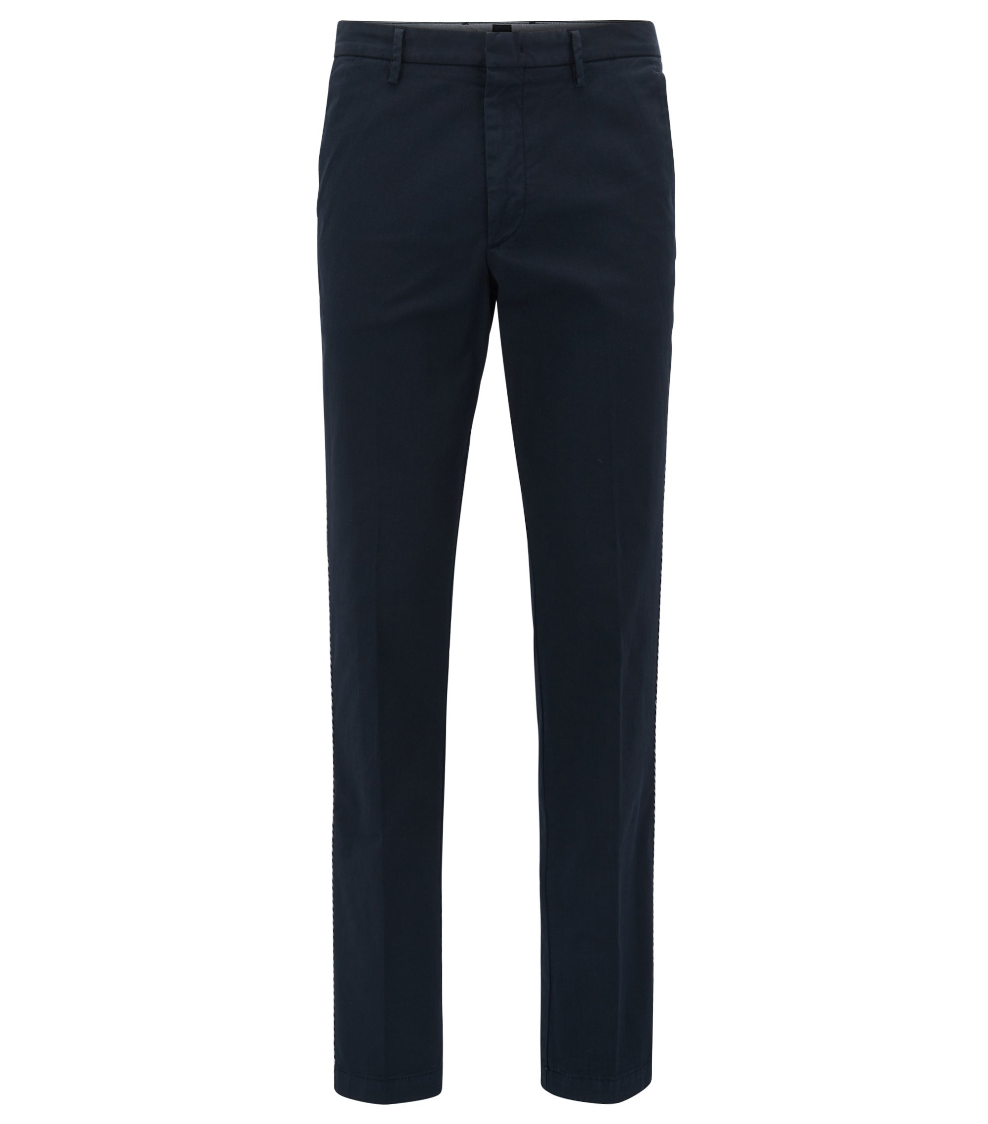 Stretch Cotton Gabardine Pant, Slim Fit | Kaito Rope D, Dark Blue