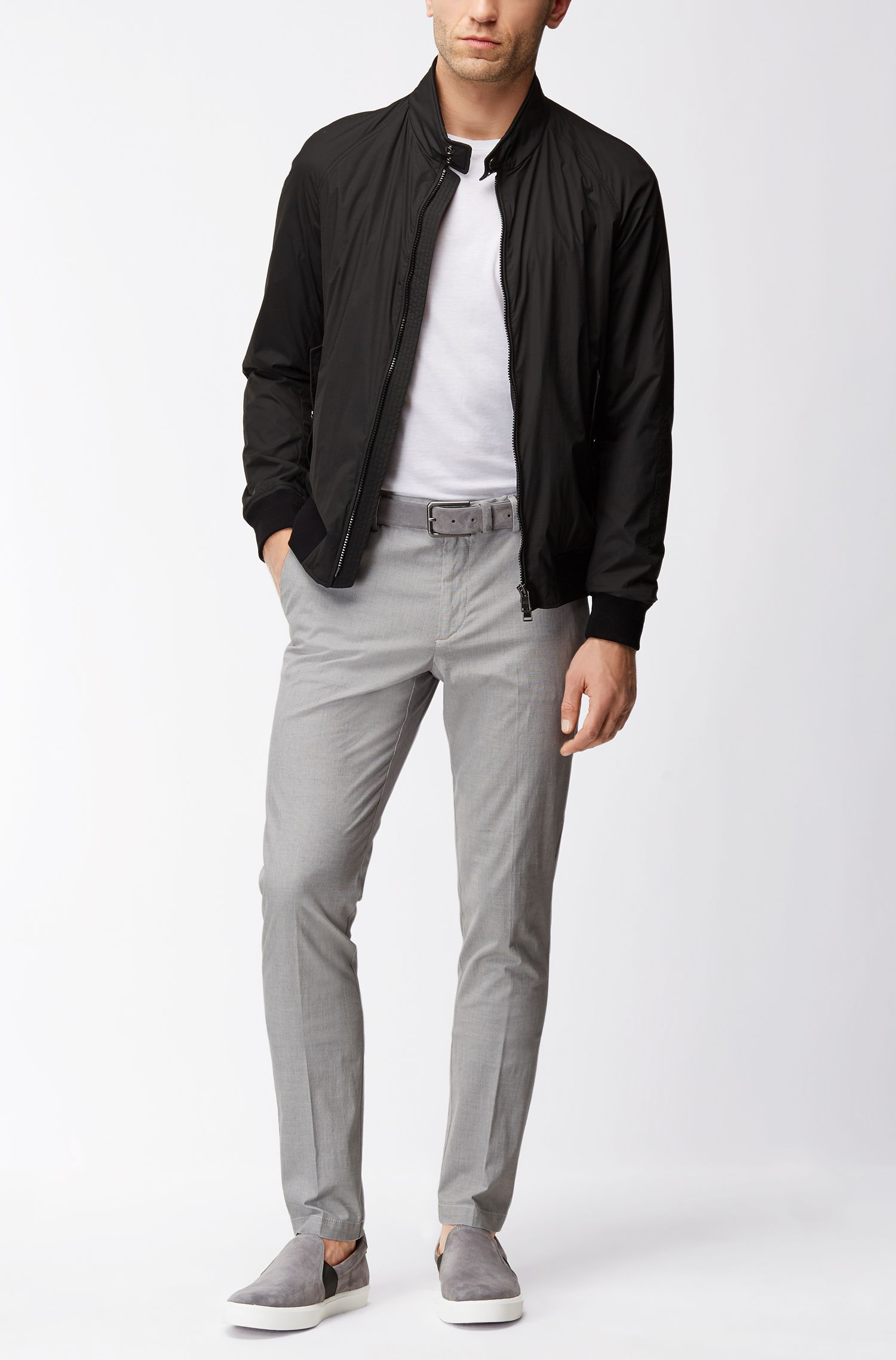 Stretch Cotton Pant, Slim Fit | Kaito, Open Grey