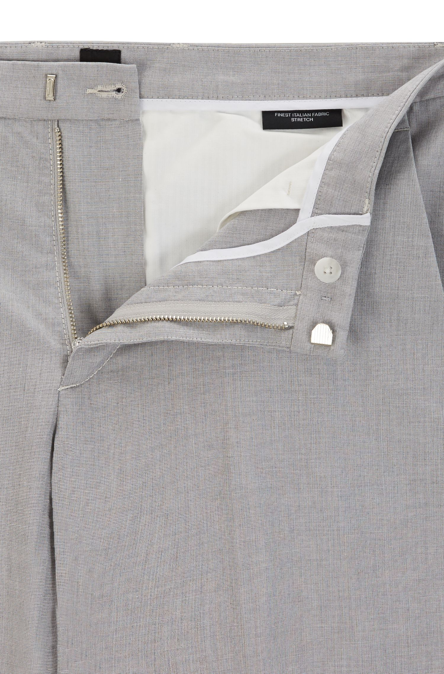 Stretch Cotton Pant, Slim Fit   Kaito, Open Grey
