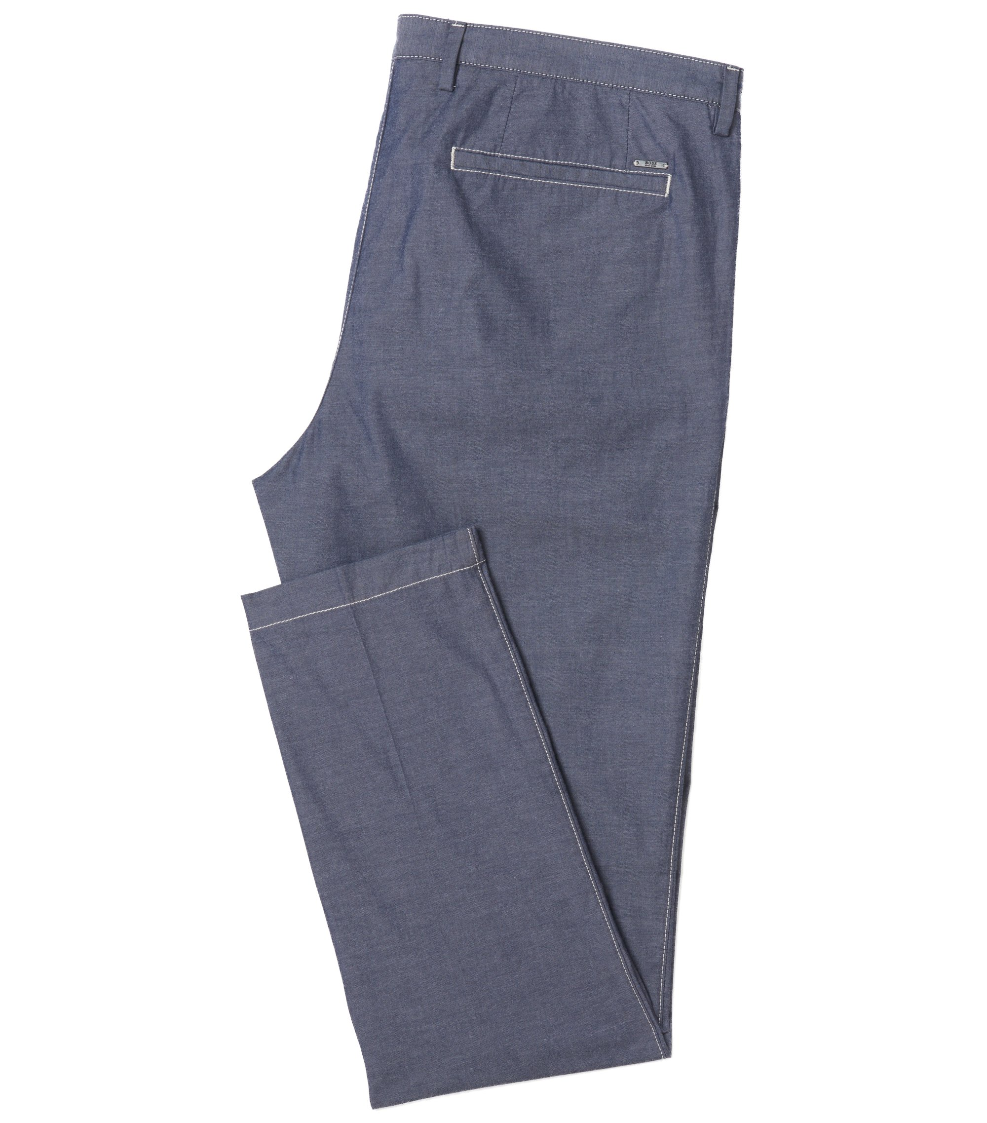 Stretch Cotton Chino Pant | 	Kaito3-Stitch-W, Dark Blue