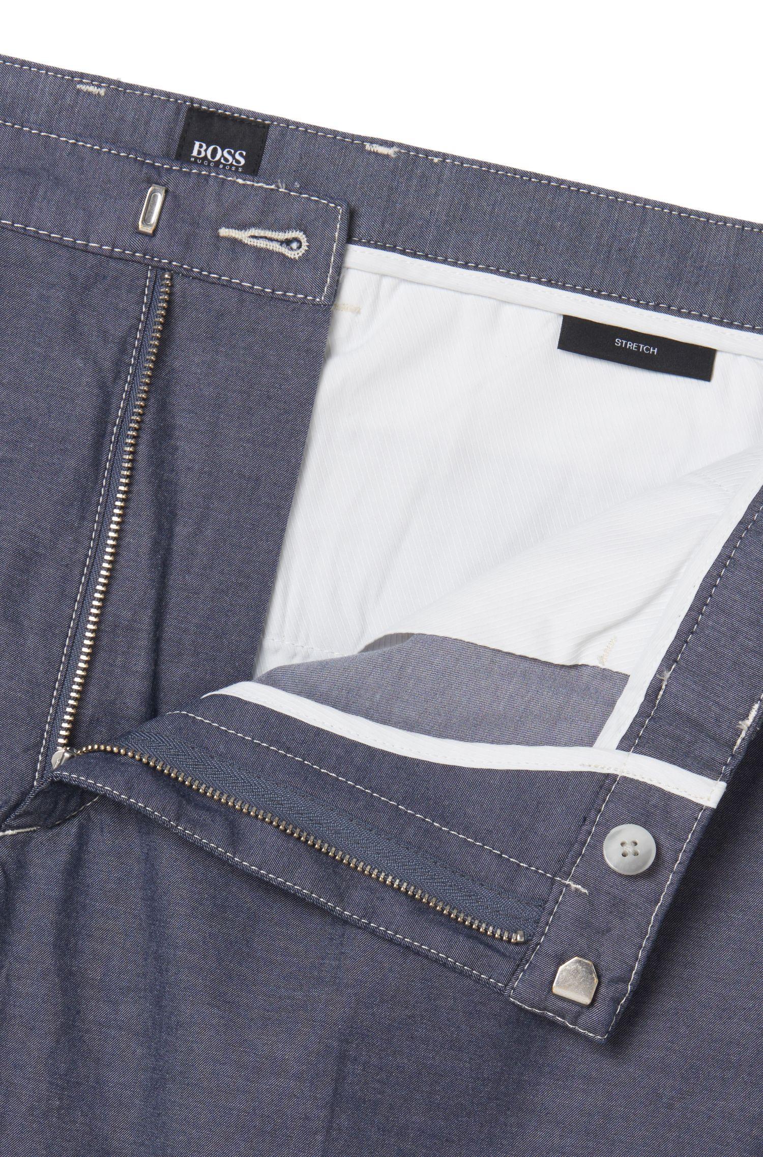 Stretch Cotton Chino Pant | Kaito3-Stitch-W, Dark Blue